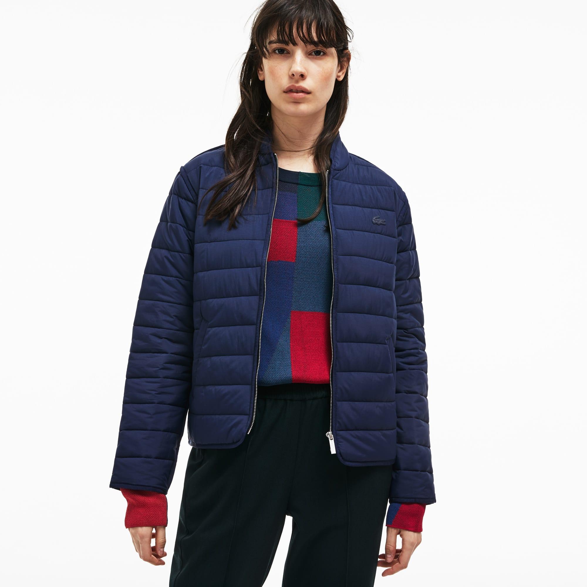 Women s Zippered Quilted Soft Taffeta Jacket ... 64f28177e3
