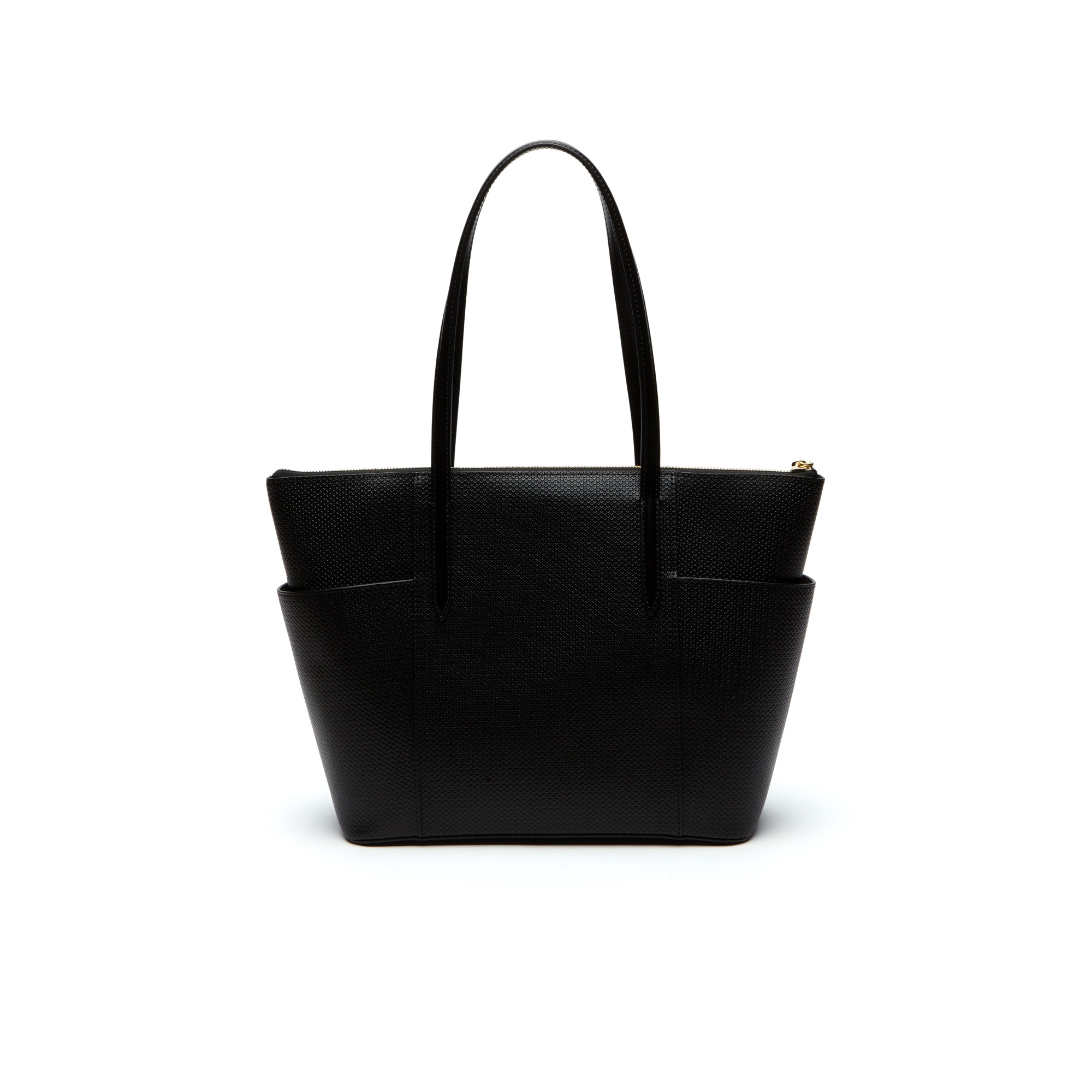 Womens Chantaco Piqué Leather Zip Pockets Tote Bag Lacoste