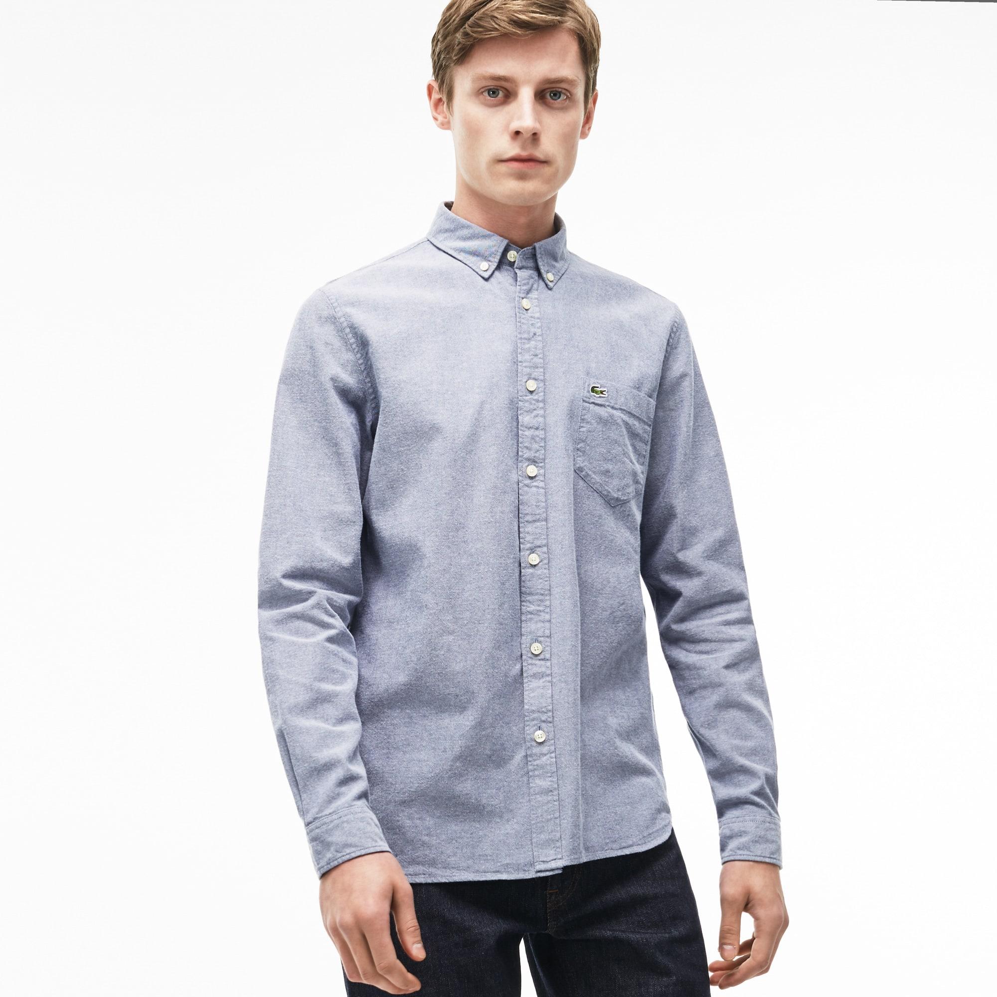 Lacoste Mens Regular Fit Oxford Cotton Shirt