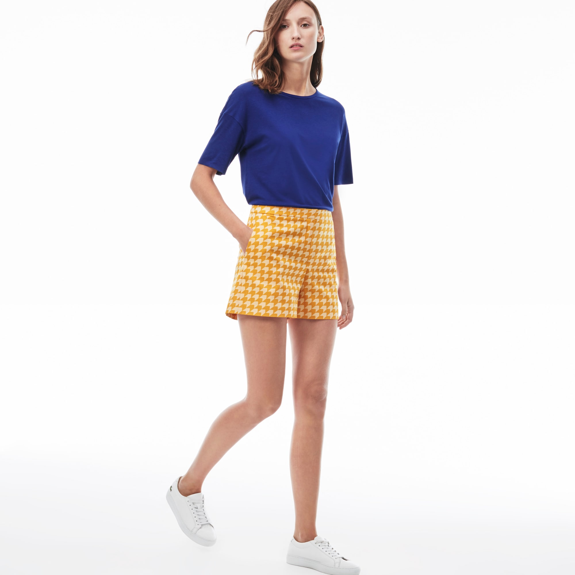 Women's Gingham Cotton Bermuda Shorts
