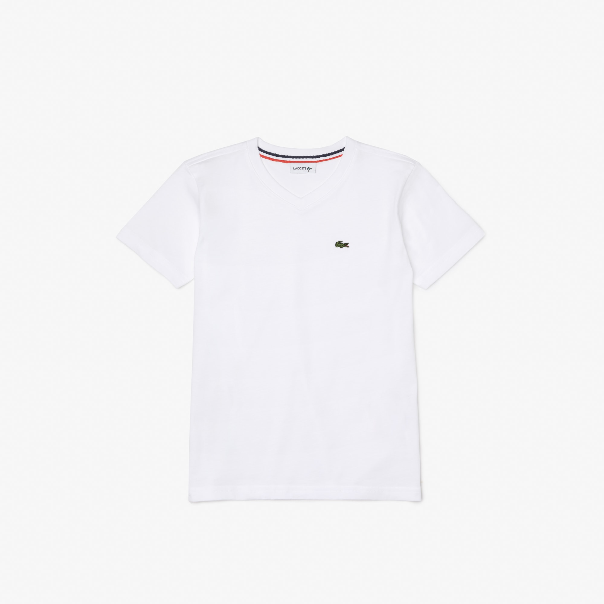 T-Shirt col V Garçon en coton