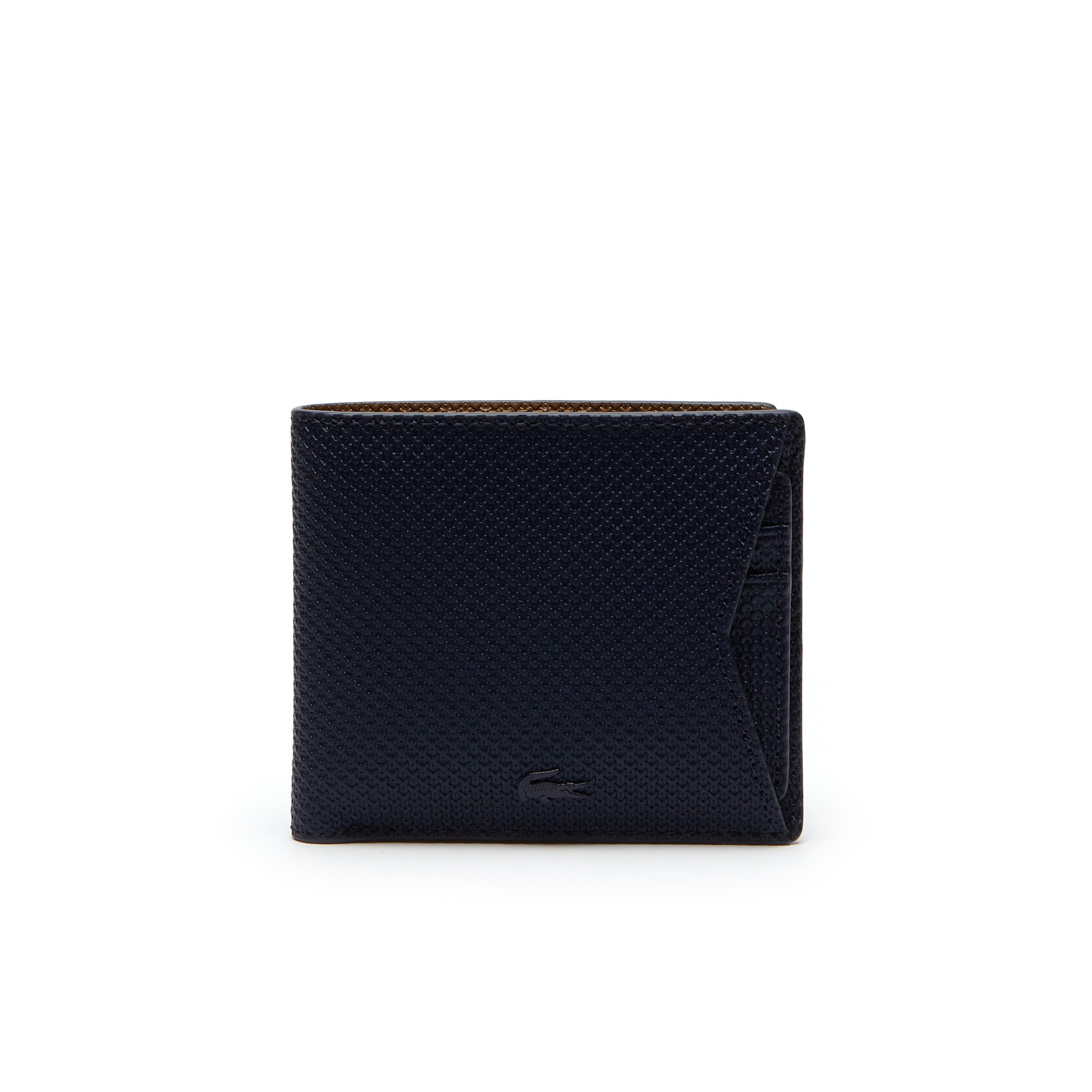 Men's Chantaco Monochrome Coated Leather Wallet With Card Holder by Lacoste