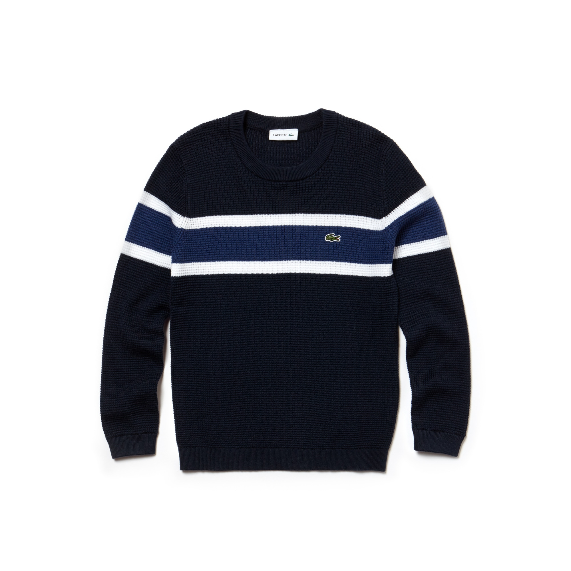 Boys' Contrast Honeycomb Sweater