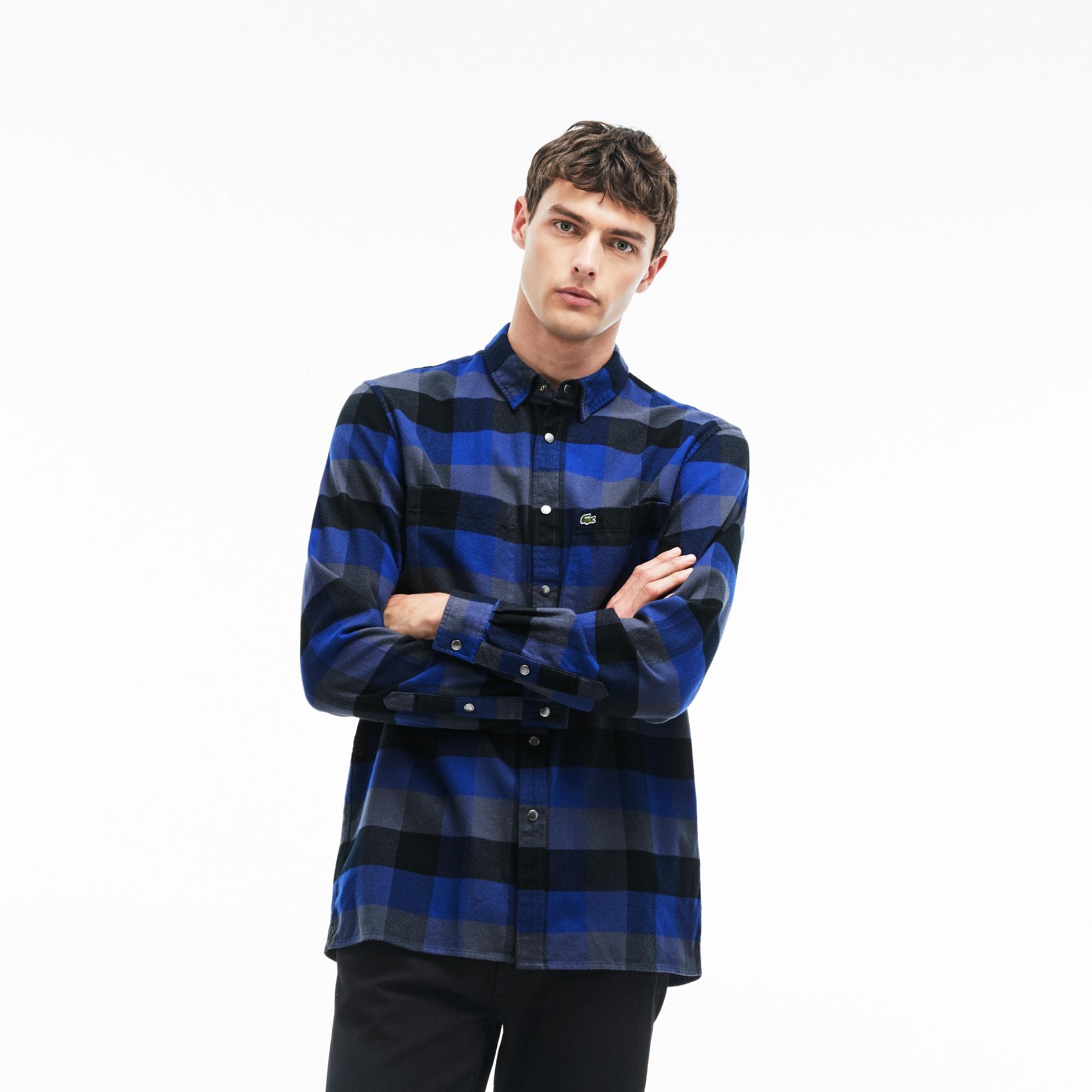 Men's Regular Fit Large Check Cotton Shirt