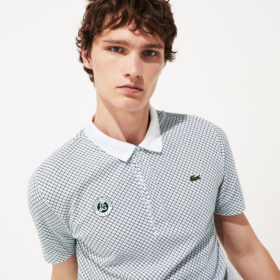Men's SPORT Roland Garros Print Cotton Polo Shirt
