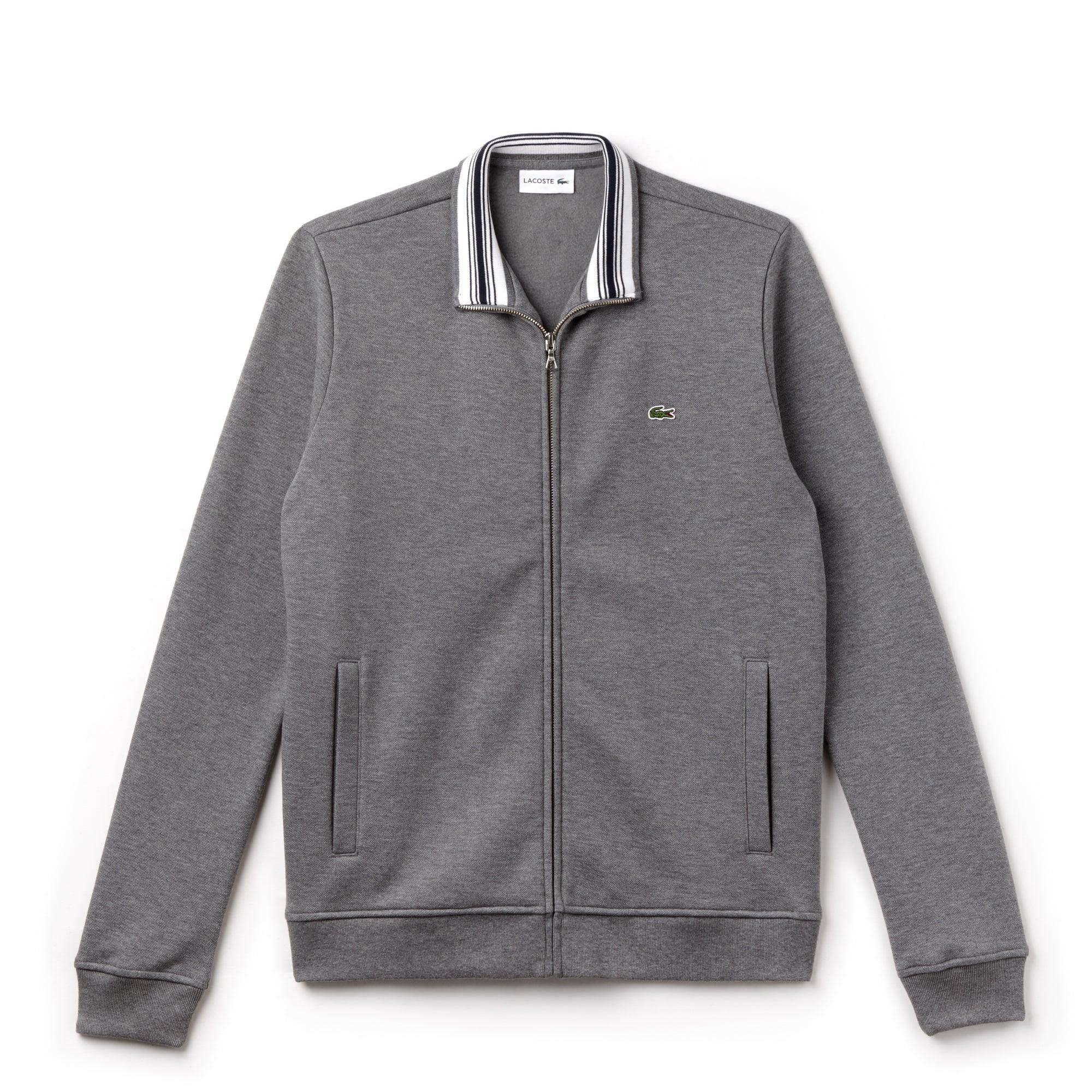 Men's Zip Stand-Up Collar Sweatshirt