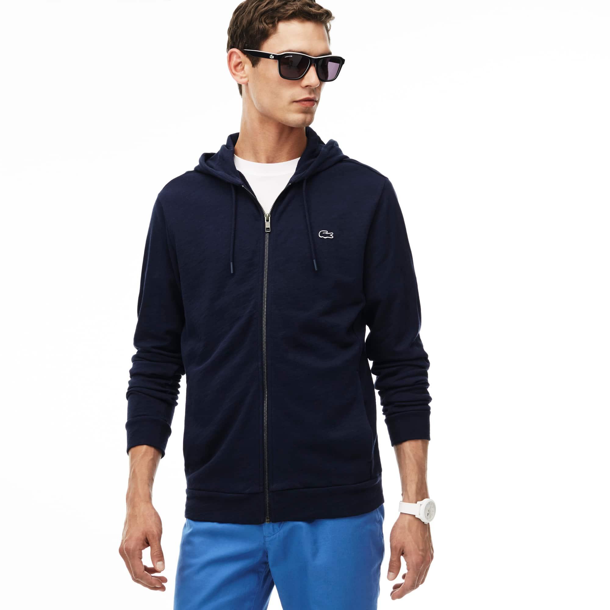 Men's Hooded Zippered Fleece Sweatshirt