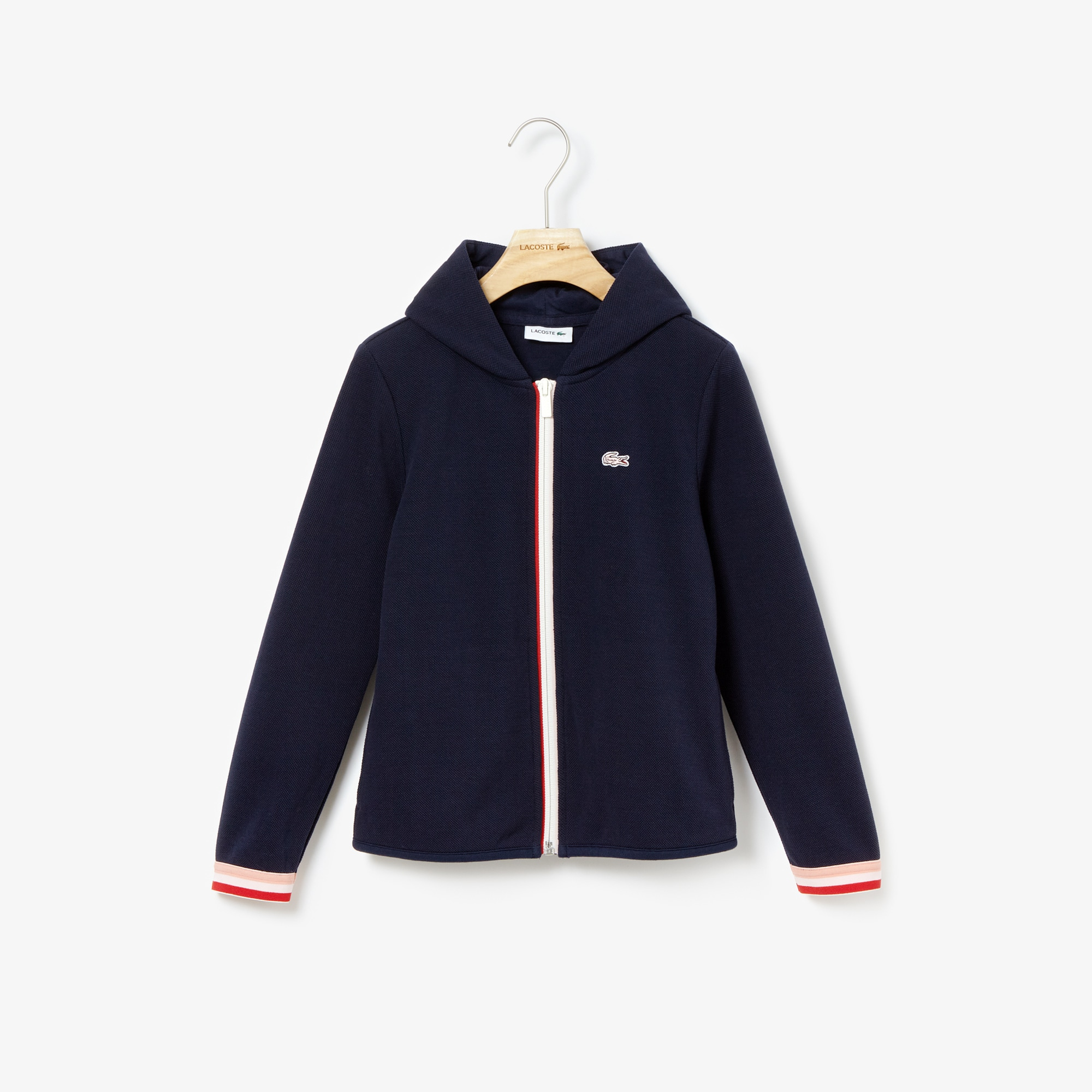 Girls' Hooded Zip Cotton Sweatshirt