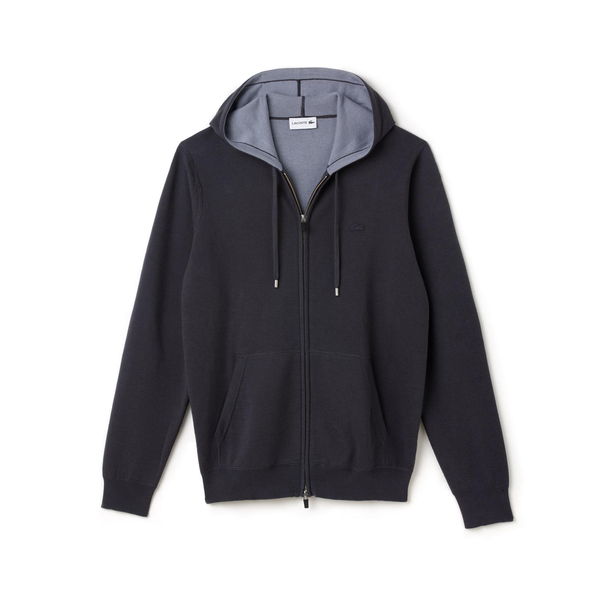 Men's Hooded Zippered Cotton Sweatshirt