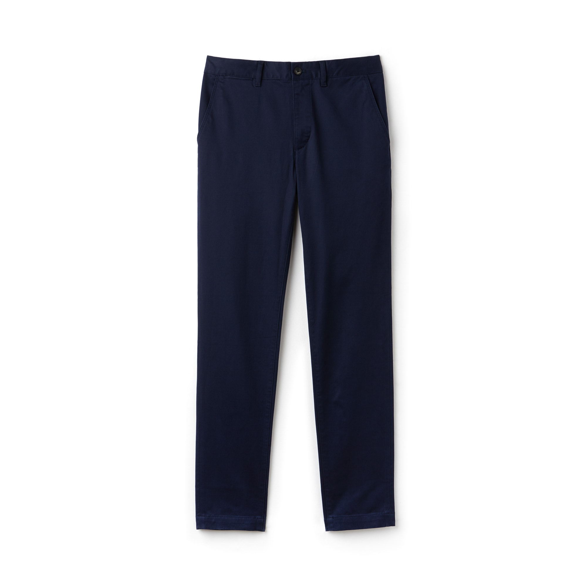 Lacoste Chinos in Navy Blue smart casual stretch cotton twill trousers