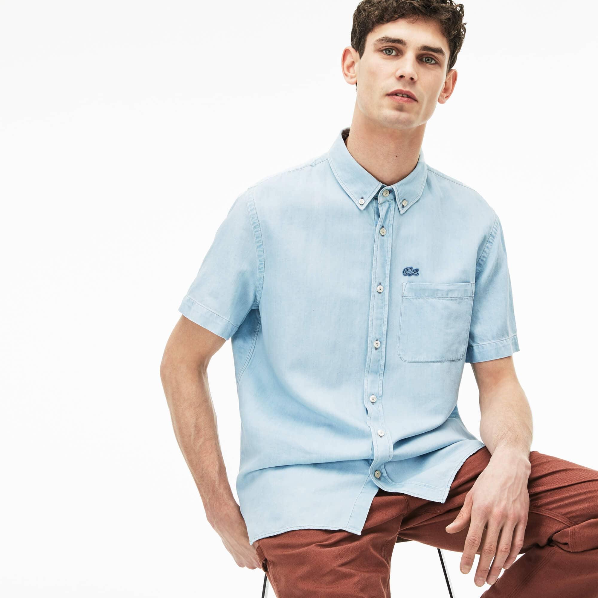 Men's Relaxed Fit Lightweight Denim Shirt