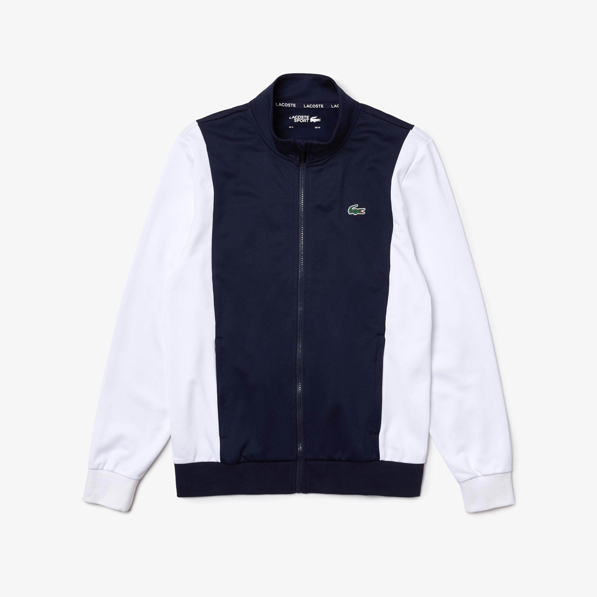 라코스테 맨 스포츠 맨투맨 Lacoste Men's SPORT Resistant Bicolor Pique Zip Sweatshirt