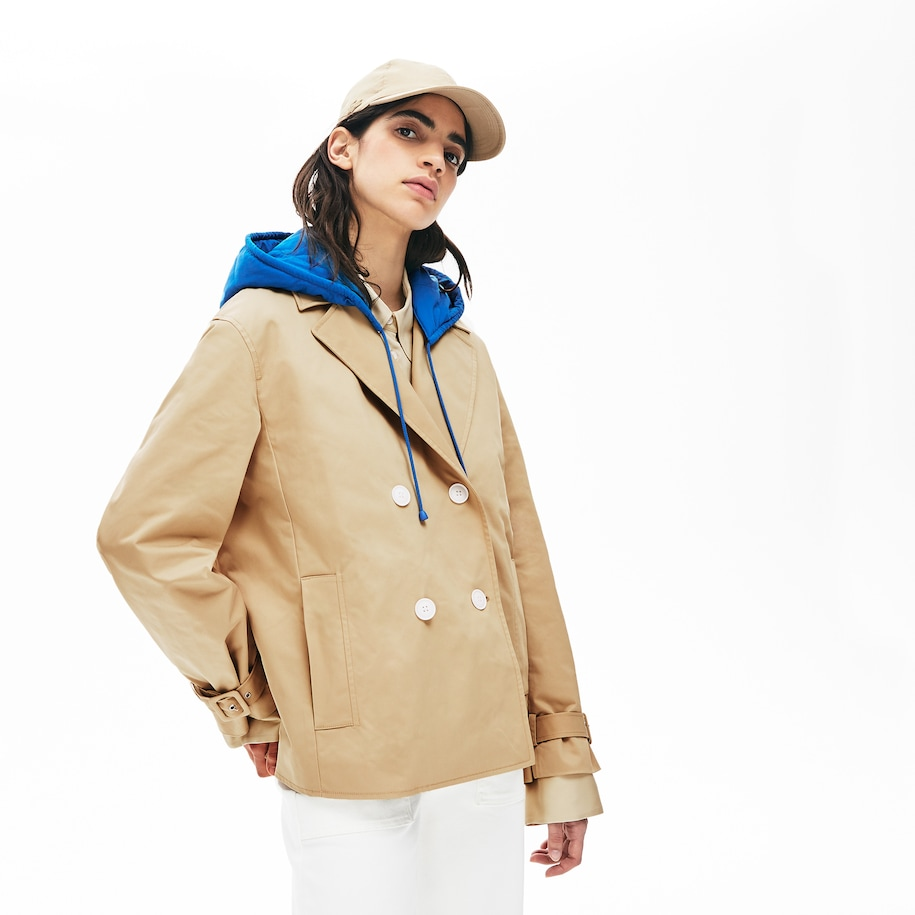 Women's LIVE Contrast Hood 2-in-1 Trench Coat