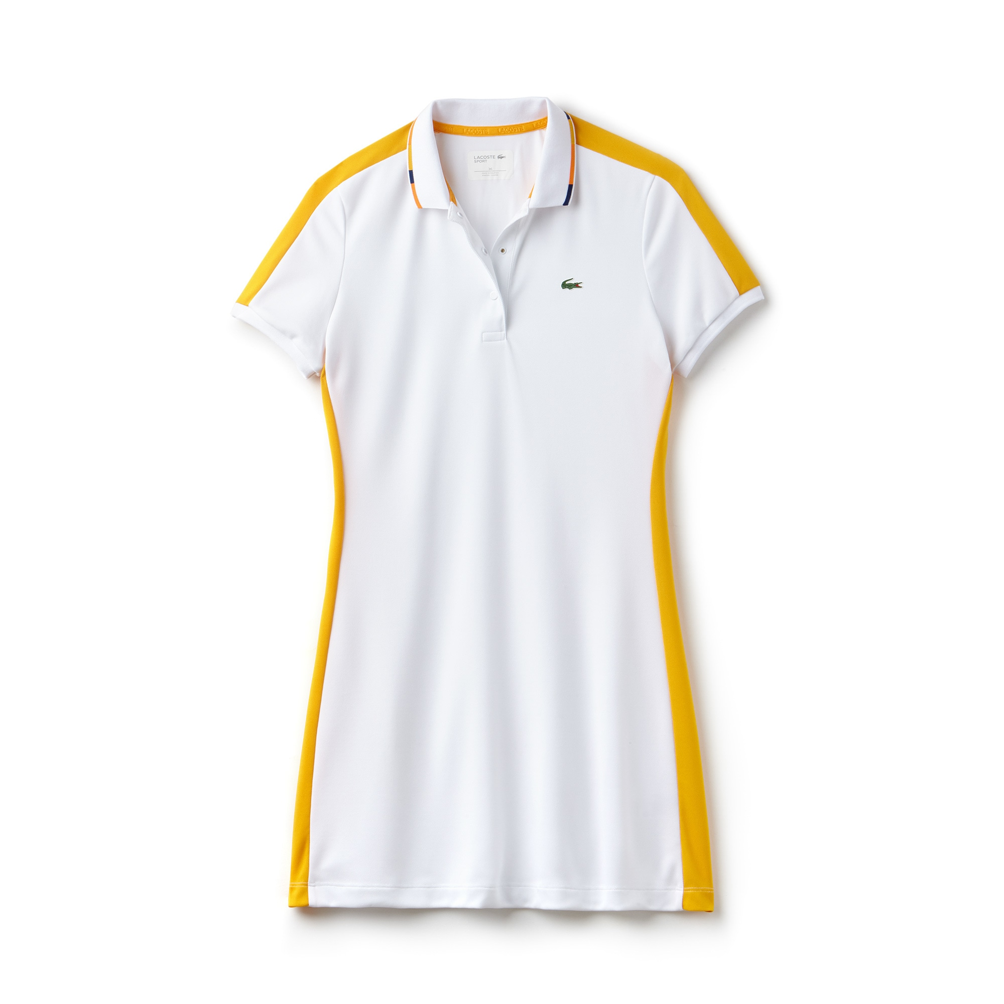 Women's SPORT Contrast Bands Tech Piqué Tennis Polo Dress
