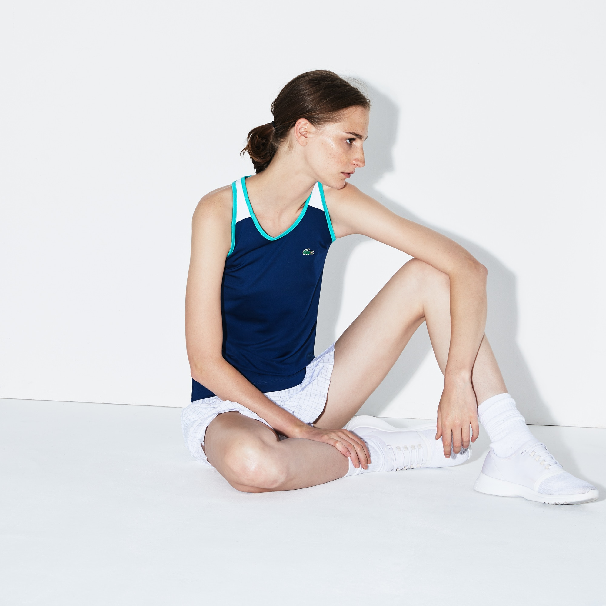 Women's SPORT Stretch Jersey Racerback Tennis Tank Top