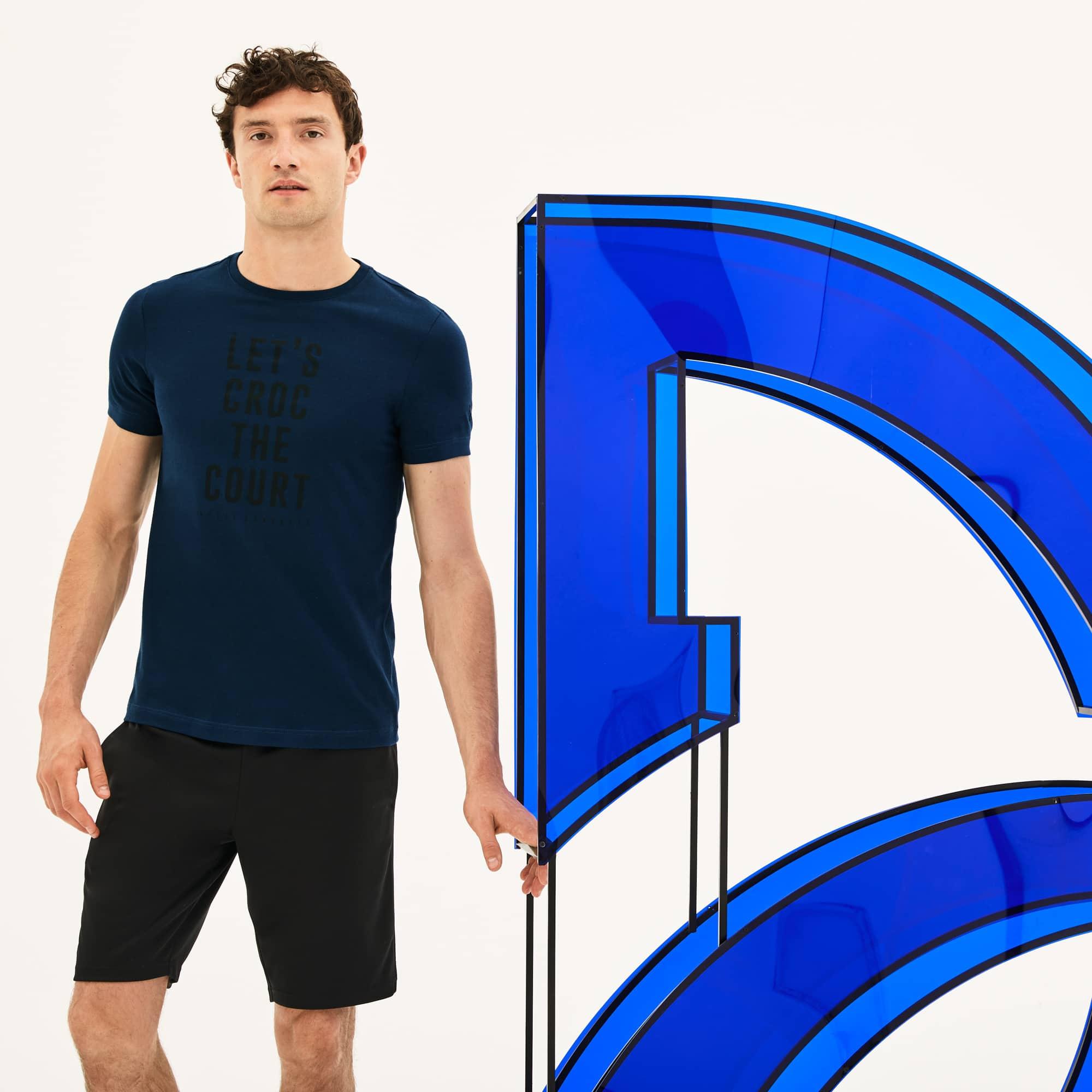T-shirt col rond Lacoste SPORT x Novak Djokovic - avec marquage