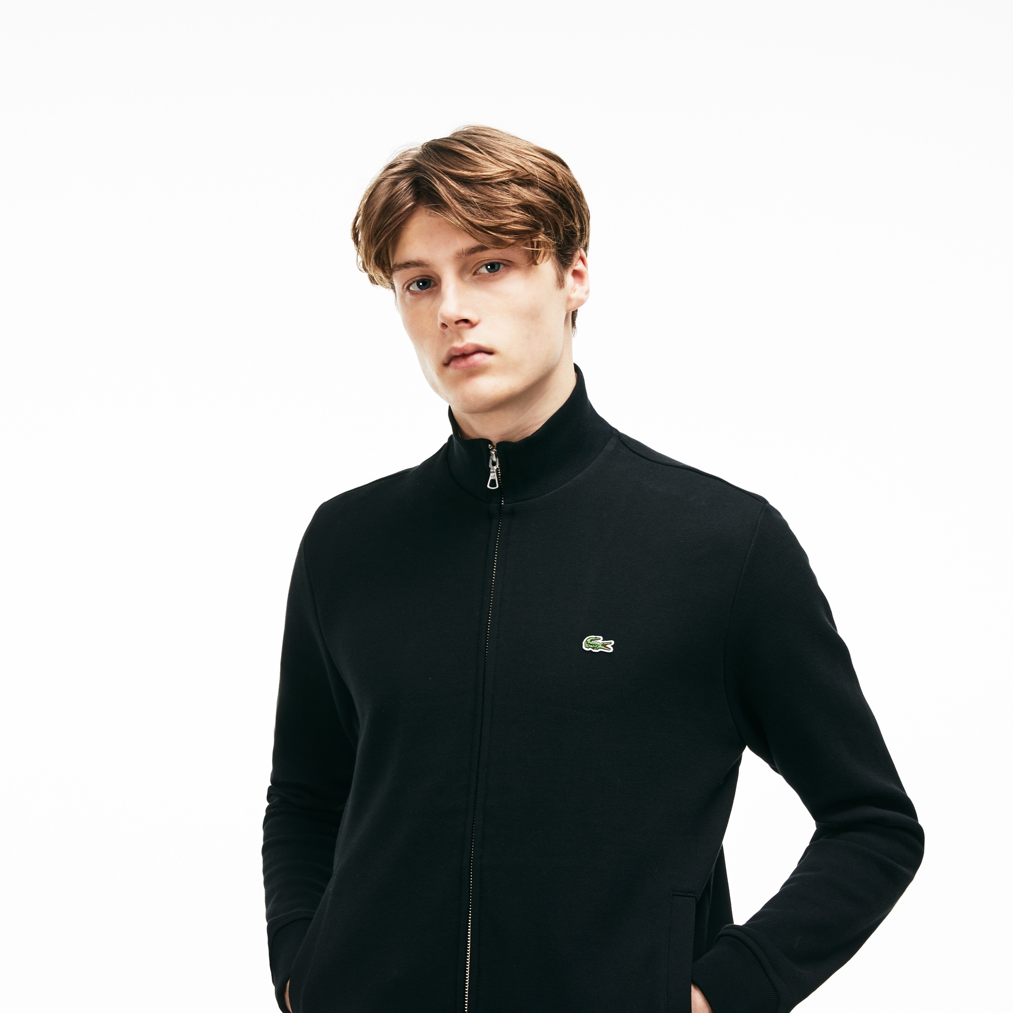 Men's Zip Stand-Up Collar Sweatshirt