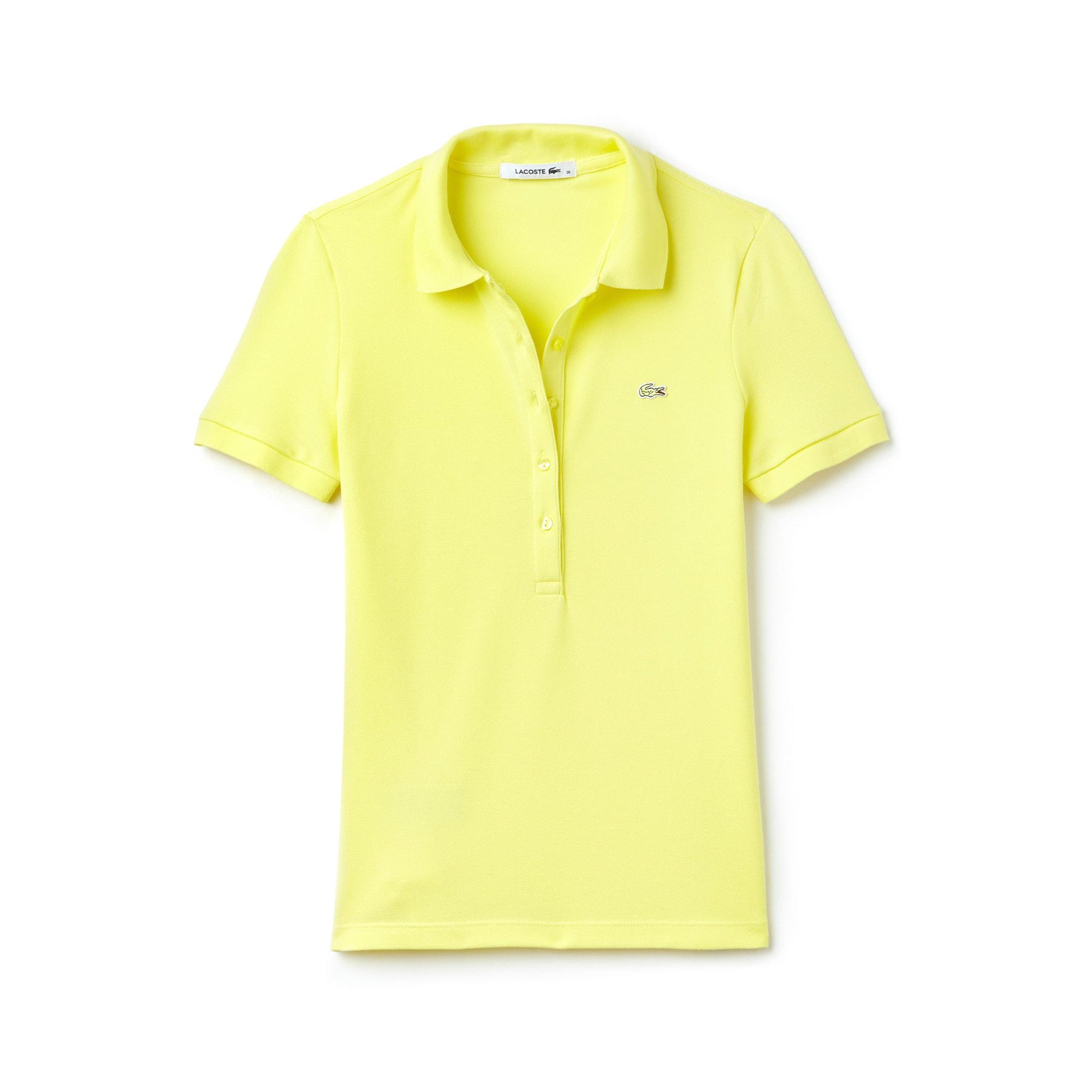 Women's Slim Fit Stretch Piqué Polo Shirt