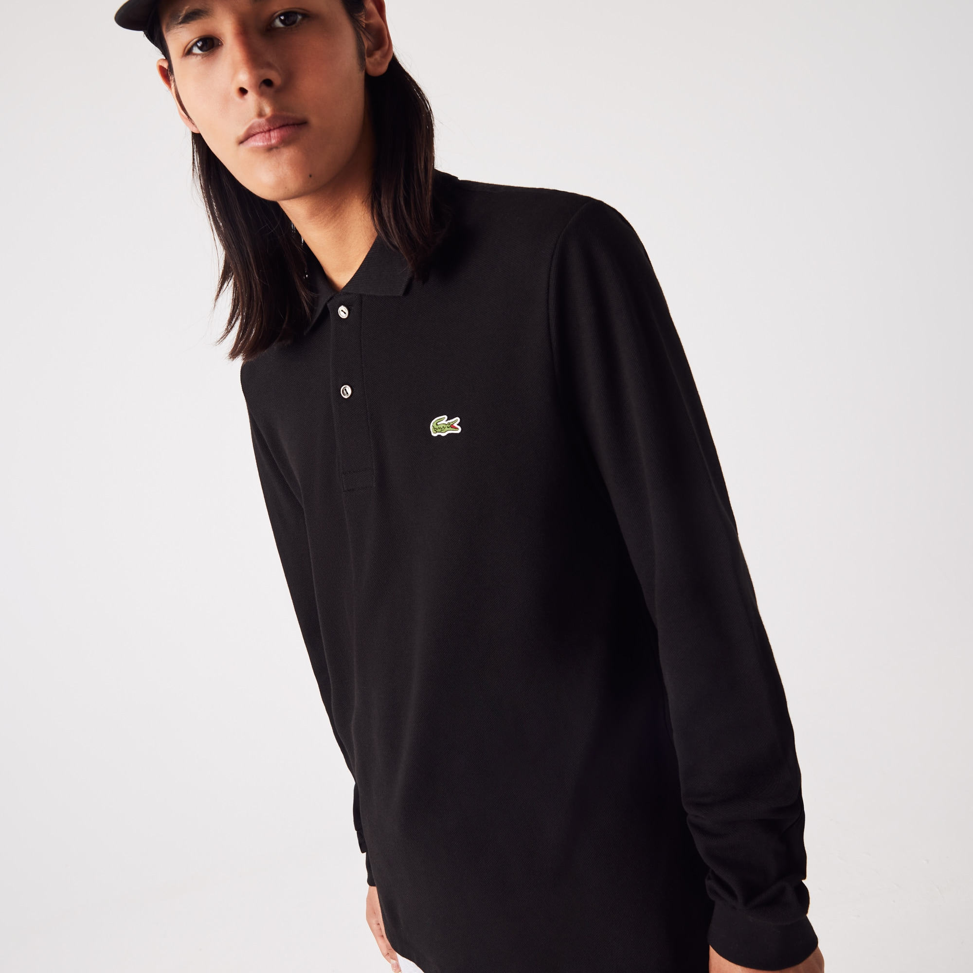 4ad0284cea2 Lacoste Men S Long-Sleeve L.12.12 Polo Shirt In Black