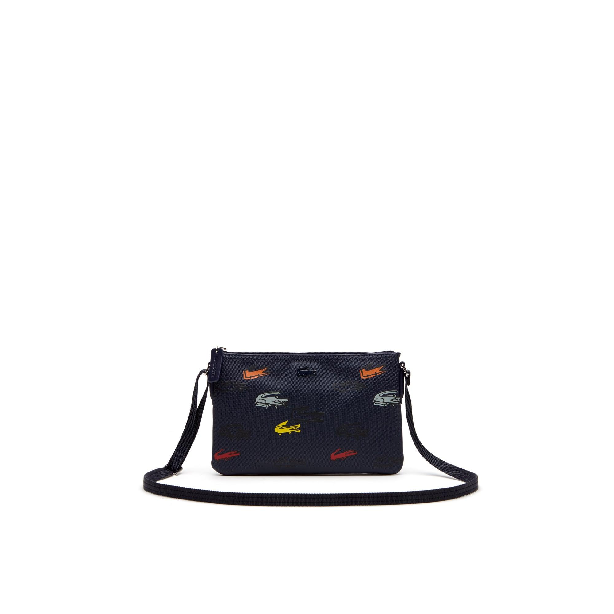 Women's L.12.12 Concept Croc Print Zip Crossover Bag