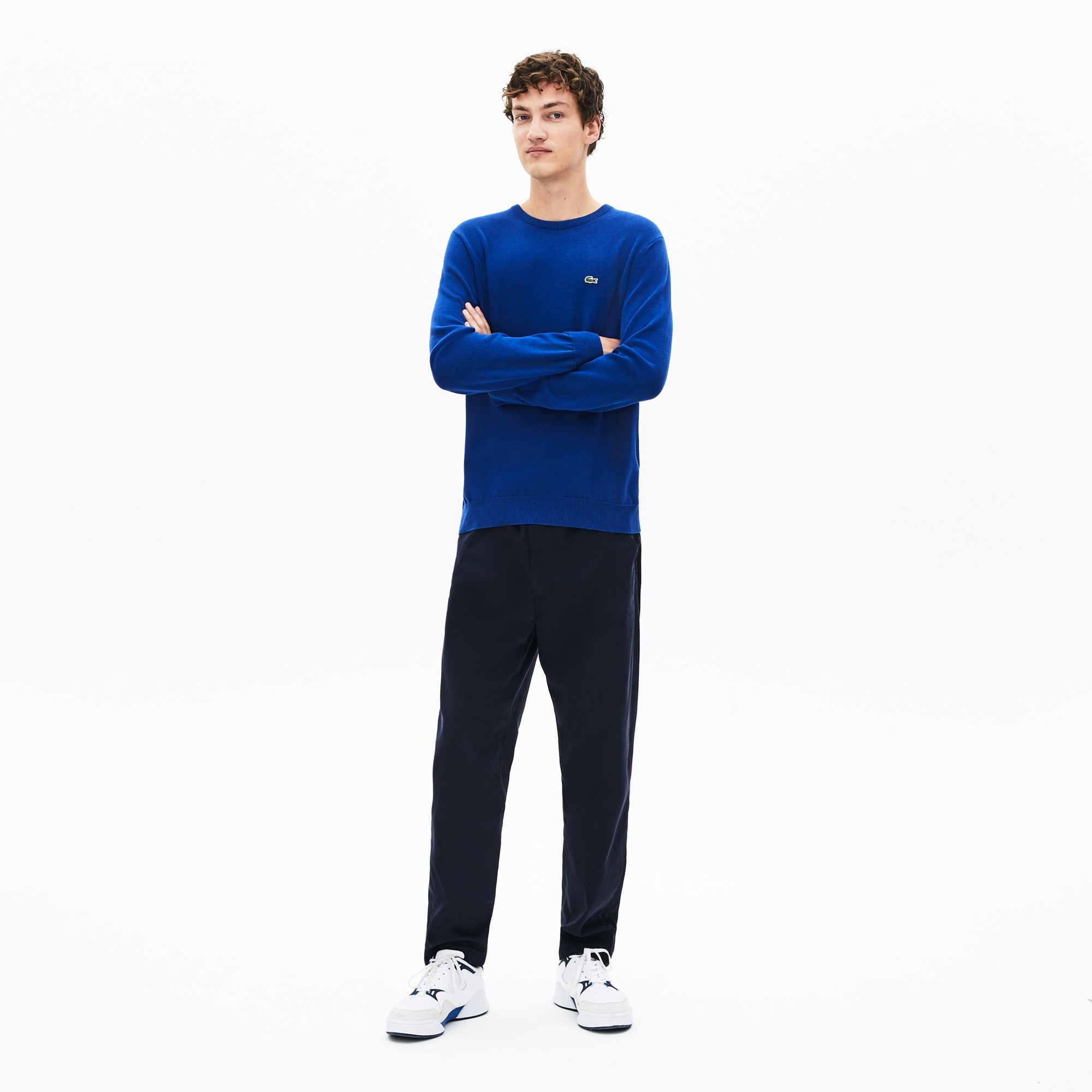 Men's Caviar Piqué Accent Sweater