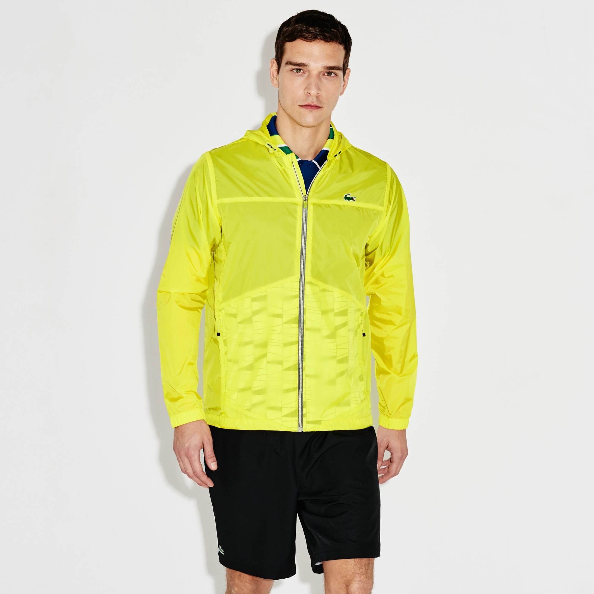 Men's SPORT Hooded Zippered Tennis Rain Jacket