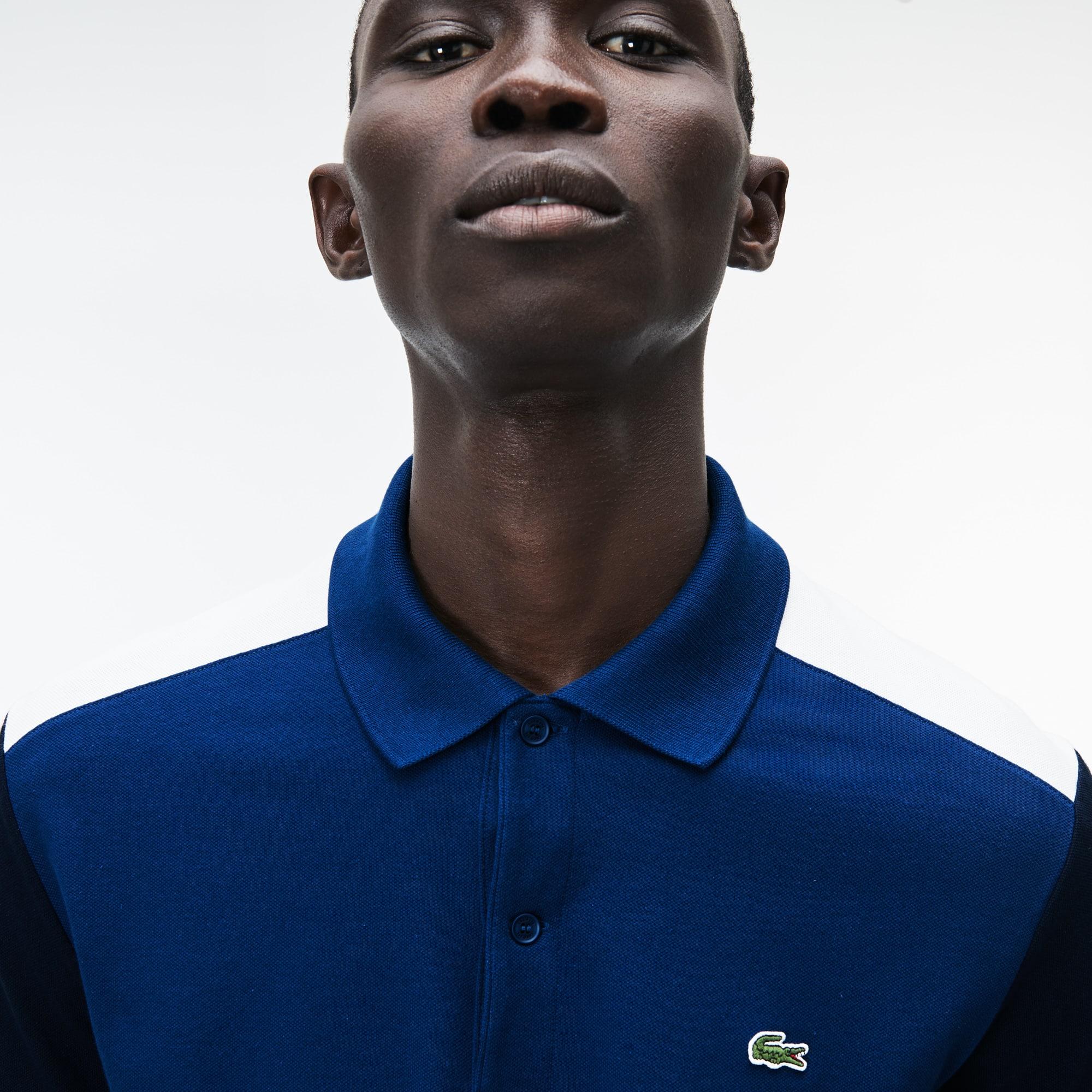 Men's Slim Fit Colorblock Stretch Pima Cotton Piqué Polo