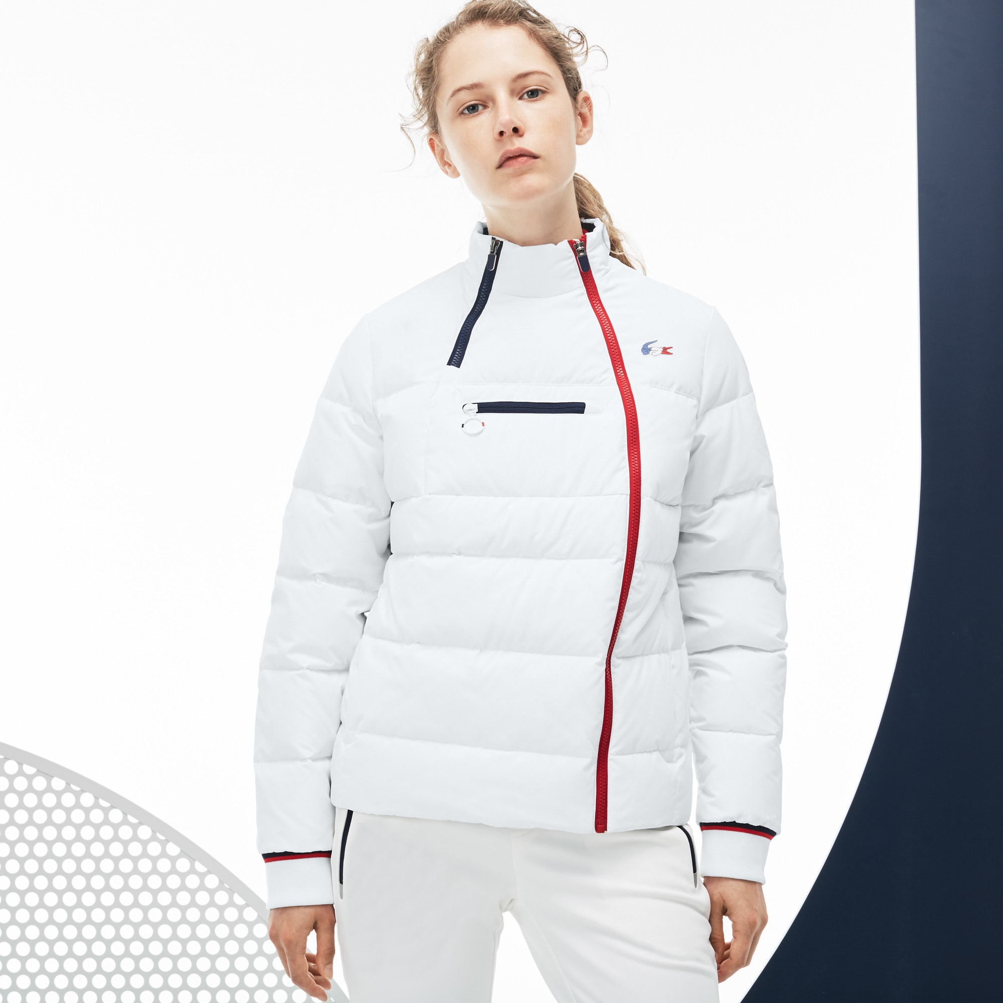 Women's  French Sporting Spirit Edition Elasticized Panel Quilted Jacket
