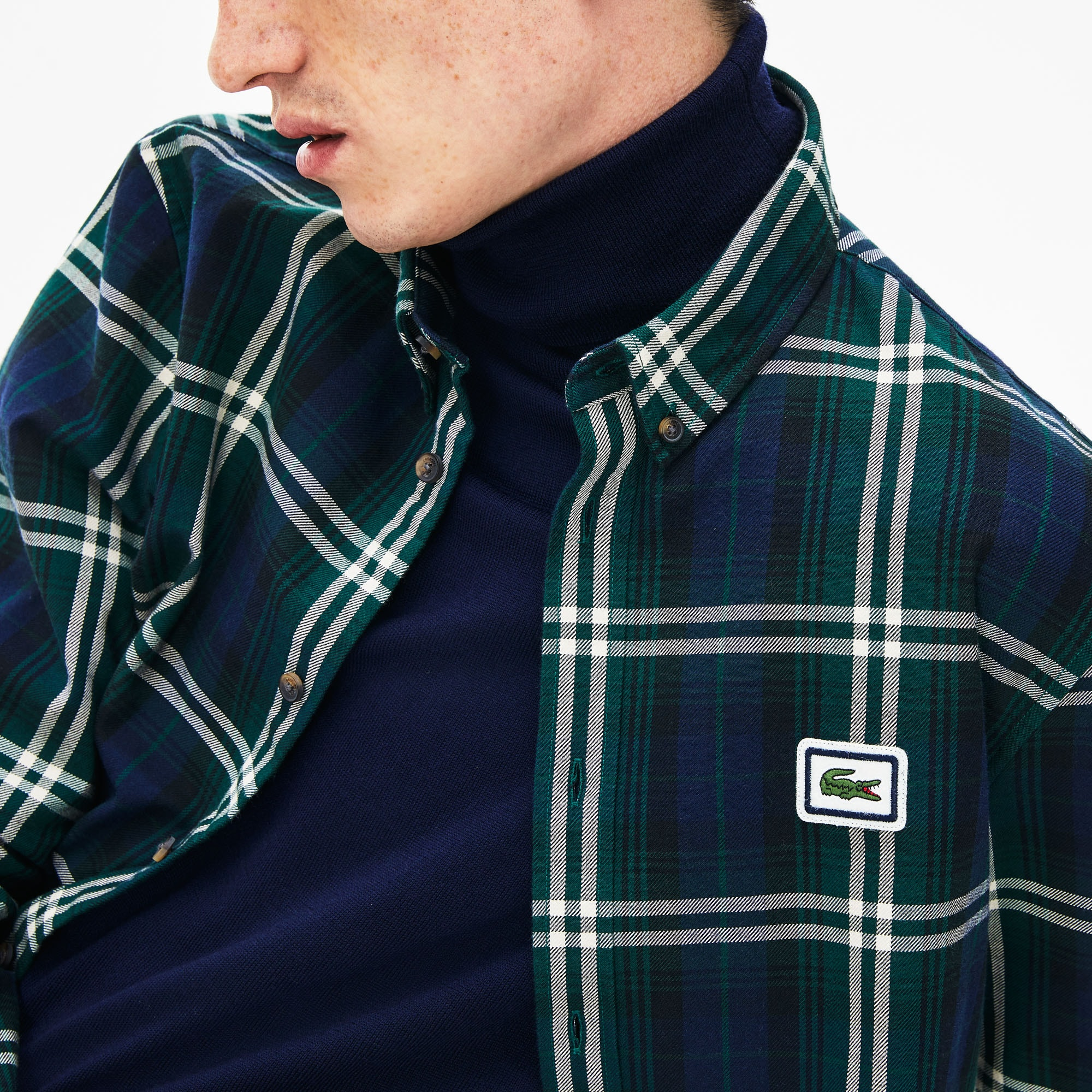 Men's Regular Fit Checkered Flannel Overshirt