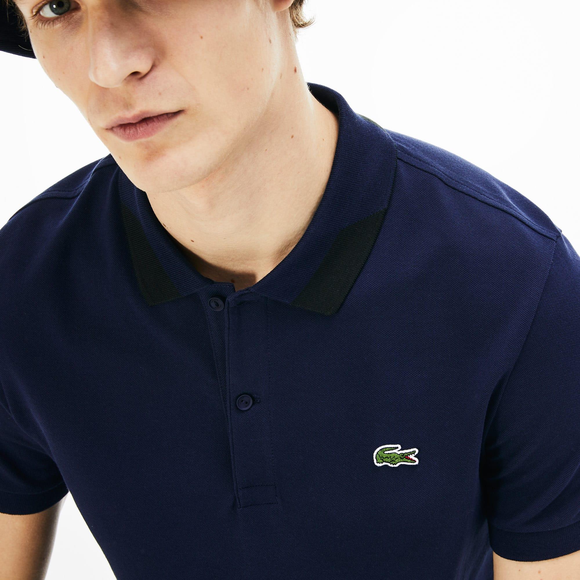 LACOSTE Cottons Men's Regular Fit Stretch Polo Shirt