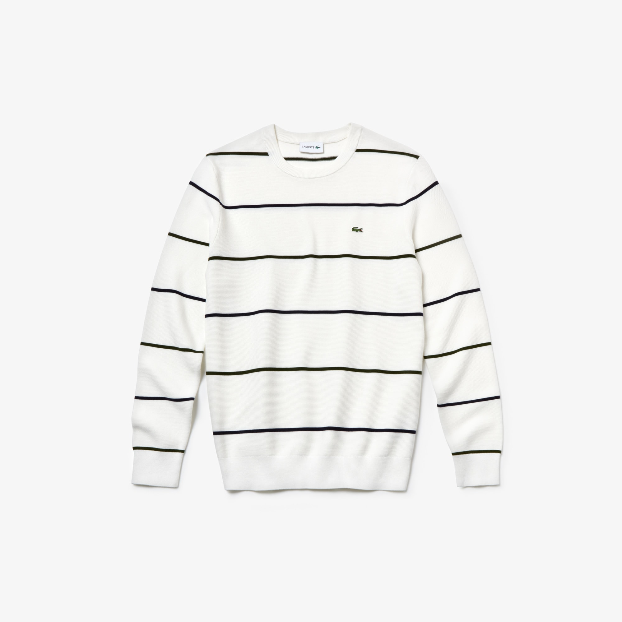 Lacoste Men's Crew Neck Cotton Sweater