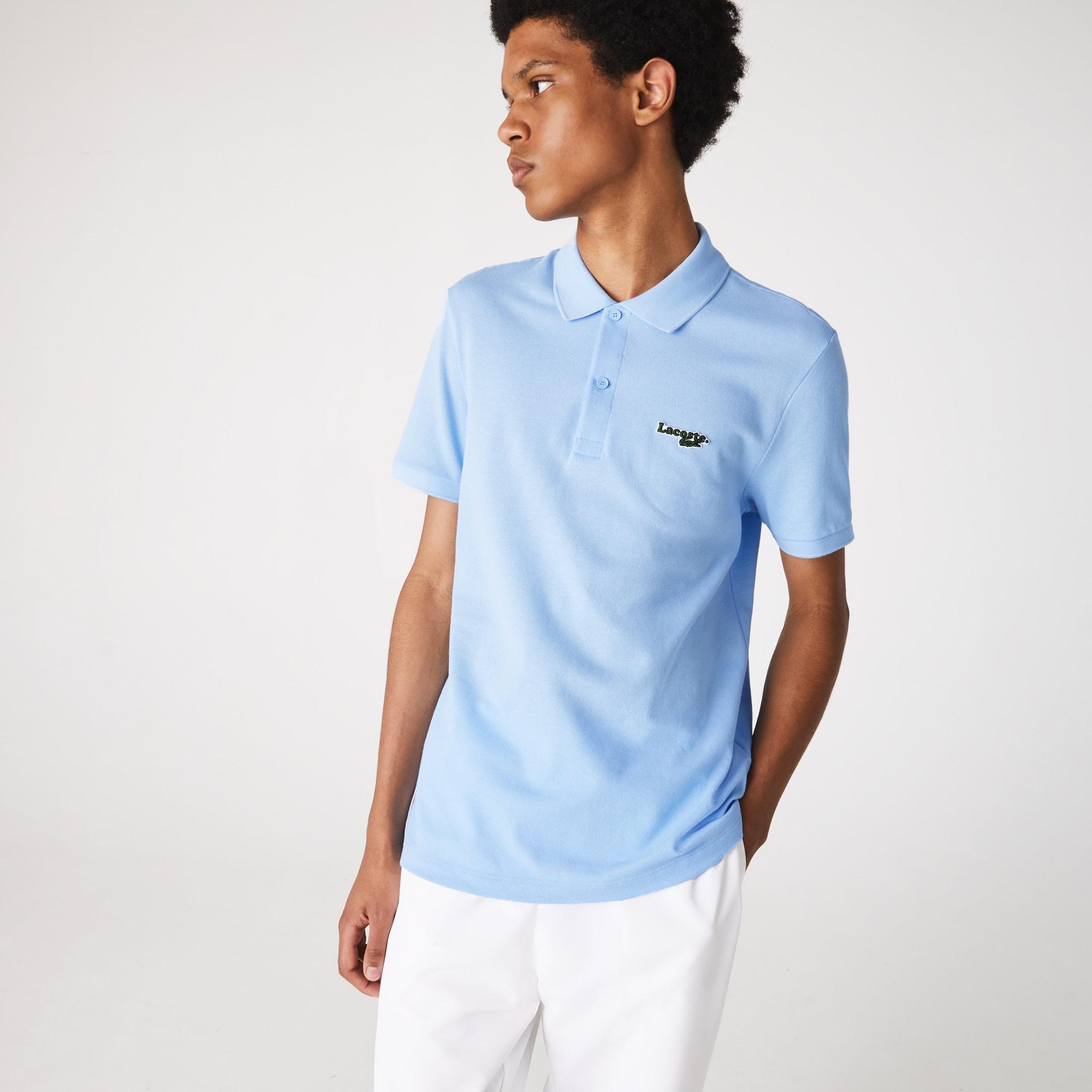 라코스테 Lacoste Mens Regular Fit Solid Cotton Pique Polo With Badge