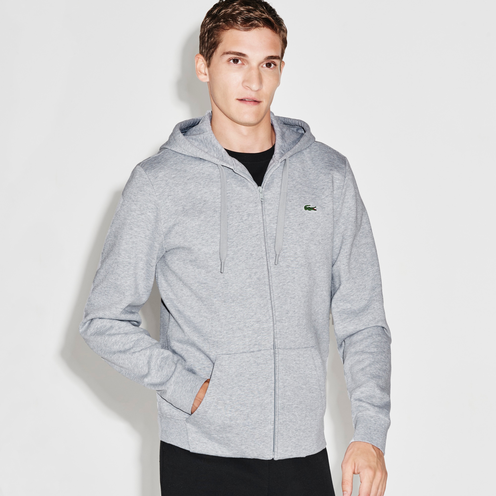 Men's SPORT Hooded Zippered Back Print Tennis Sweatshirt