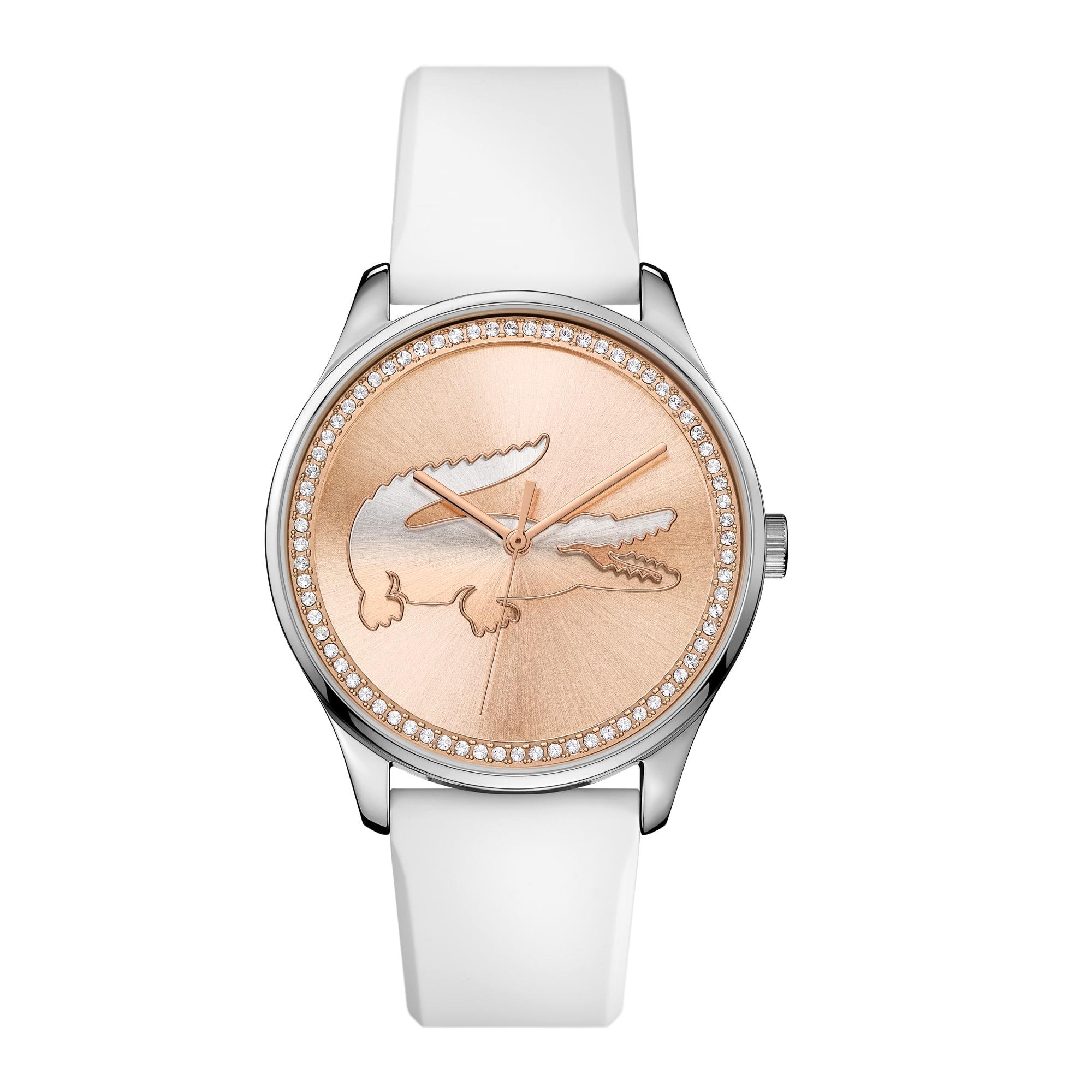 Women's Victoria White Silicone Strap Watch