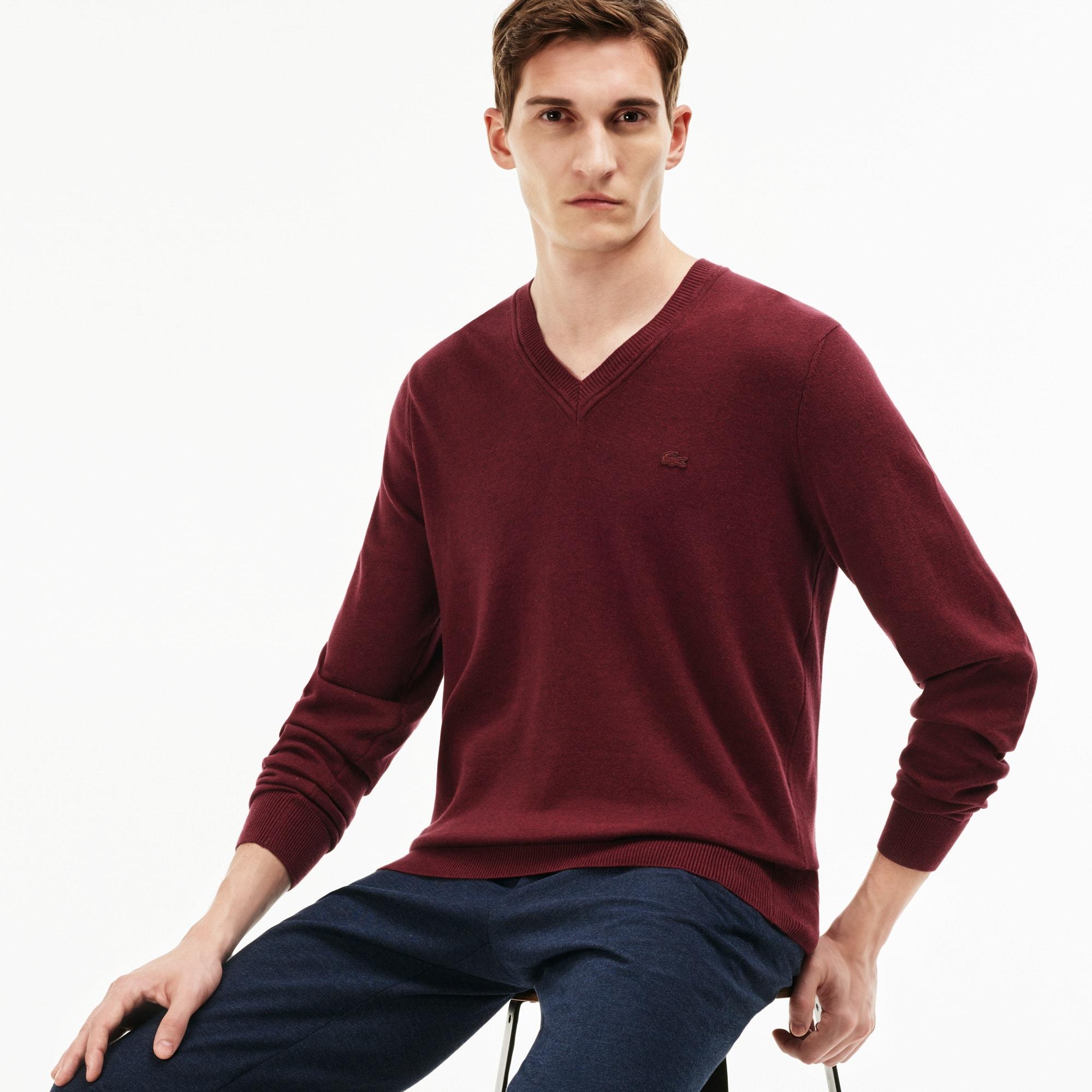 Men's Ribbed V-Neck Sweater