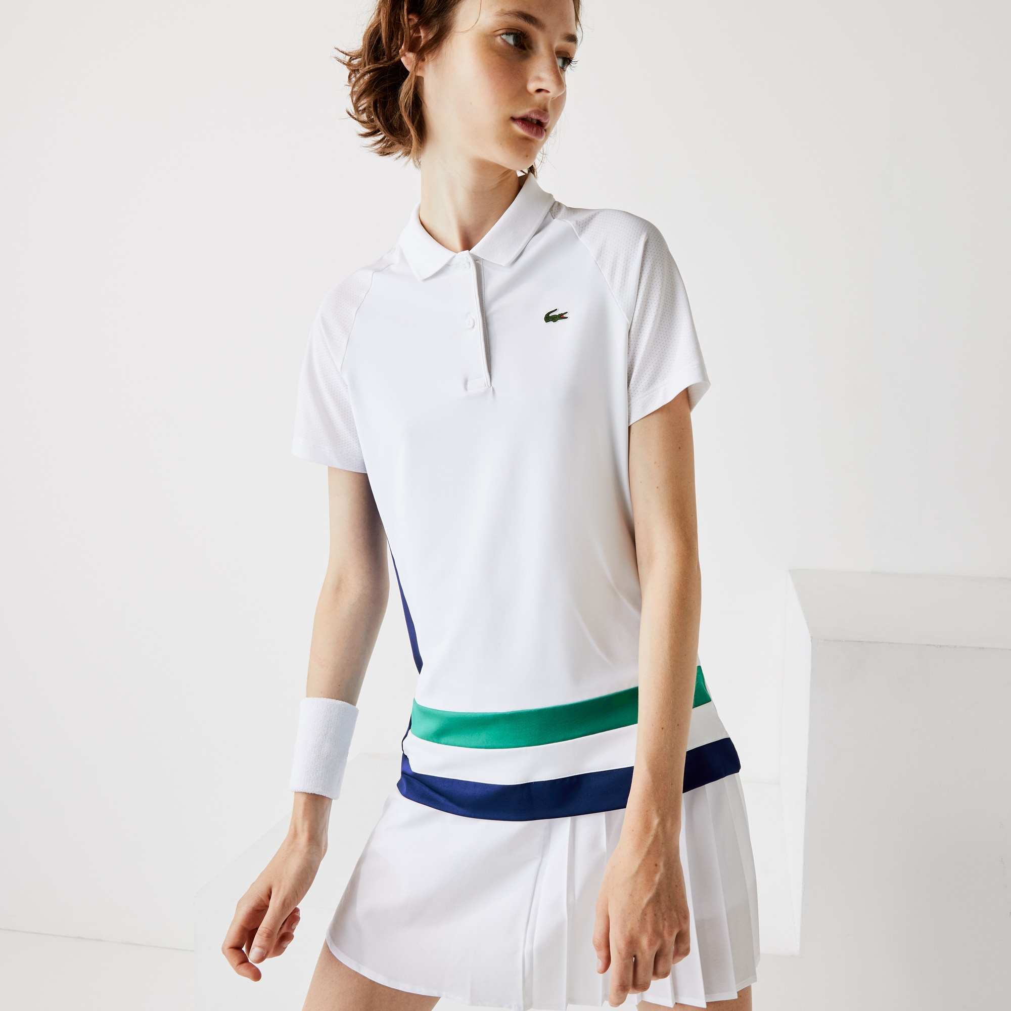 Lacoste Womens SPORT Breathable Stretch Tennis Polo Shirt