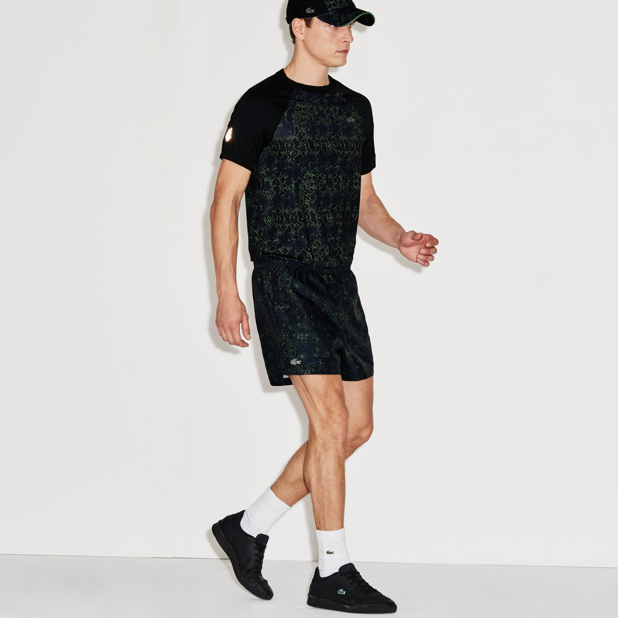 Men's SPORT Stretch Print Tennis Shorts