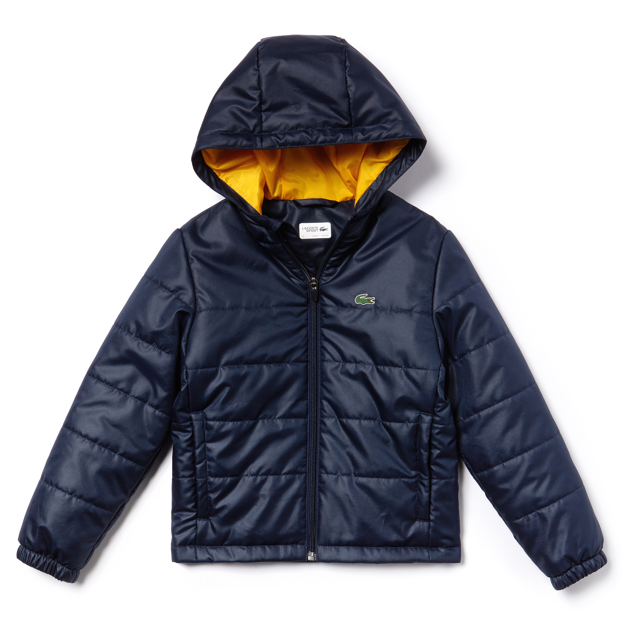 Boys' SPORT Hooded Quilted Taffeta Tennis Jacket