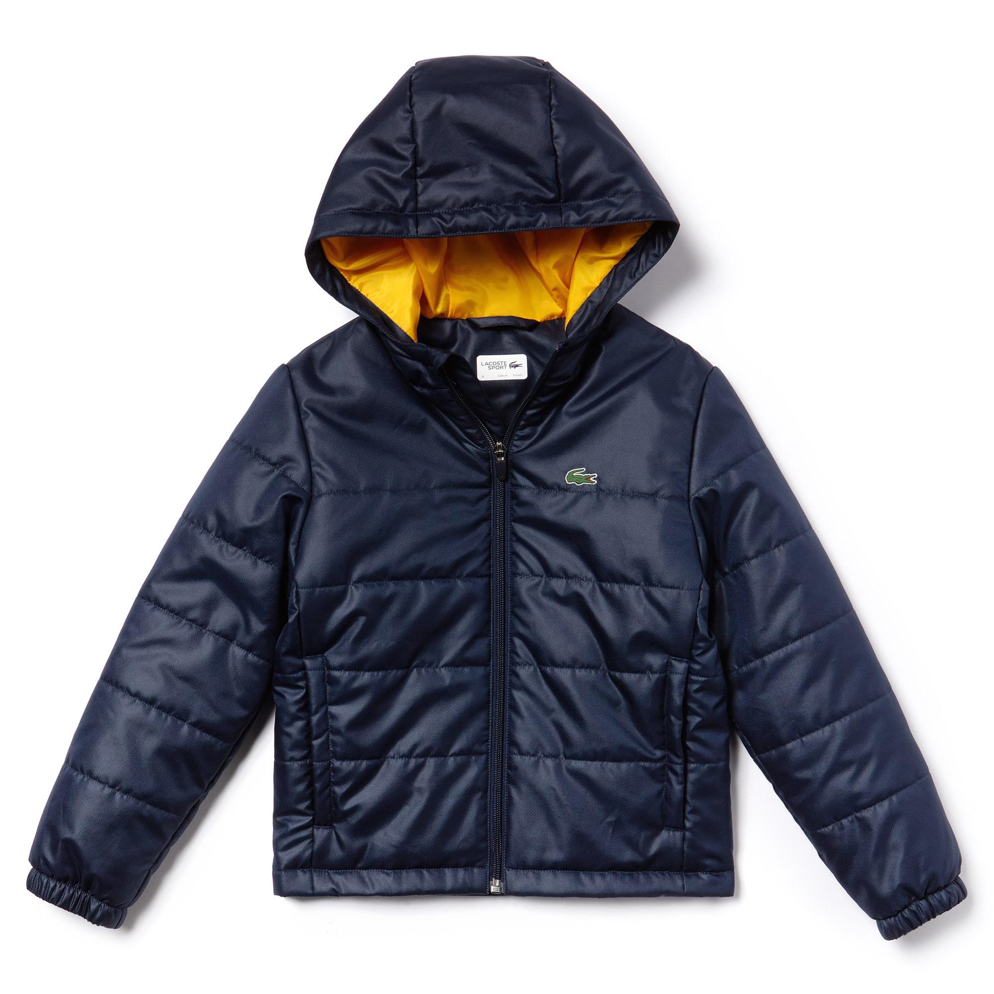 bfa4472696 Boys' SPORT Hooded Quilted Taffeta Tennis Jacket | LACOSTE