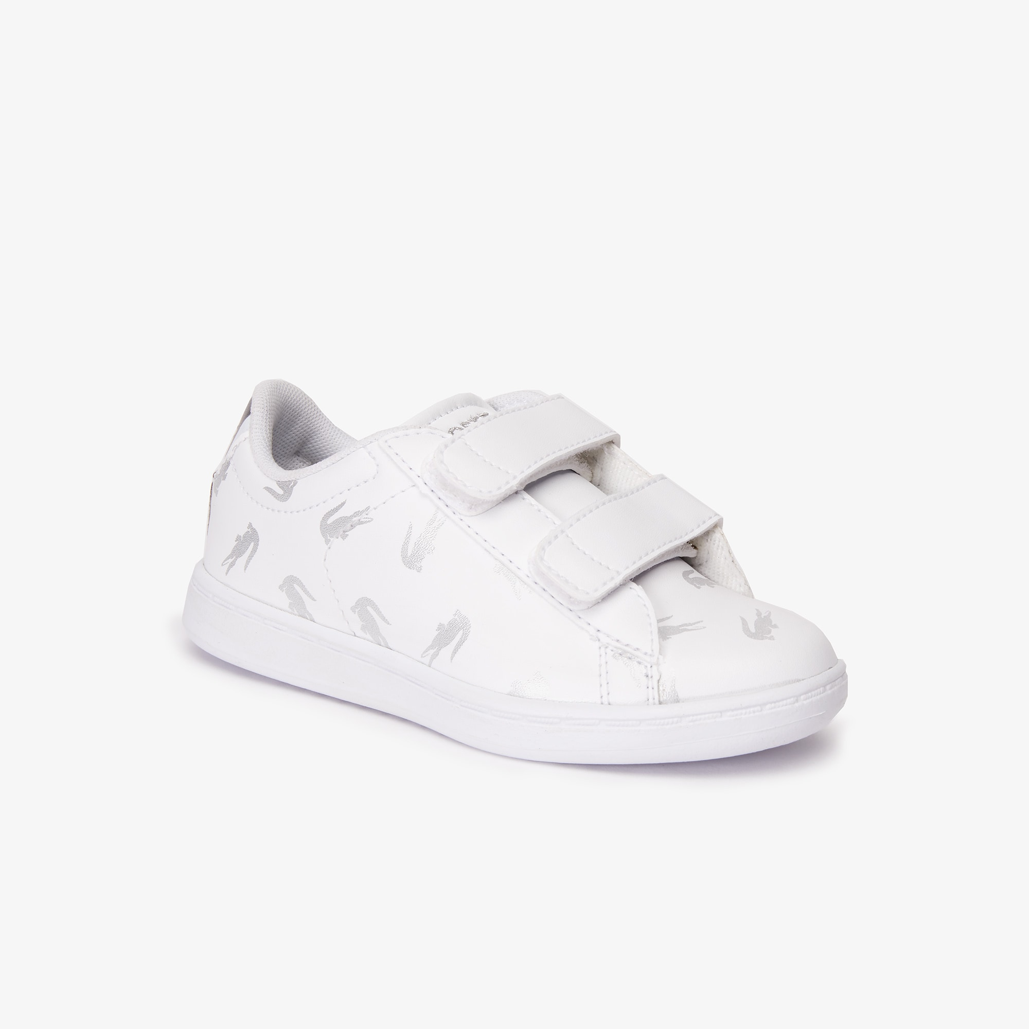 라코스테 남아용 스니커즈 Lacoste Infants Carnaby Evo Synthetic Trainers with Multi-Croc Prints