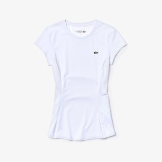 라코스테 스포츠 우먼 테크 기능성 티셔츠 Lacoste Womens SPORT Stretch Tech Jersey Mesh T-shirt