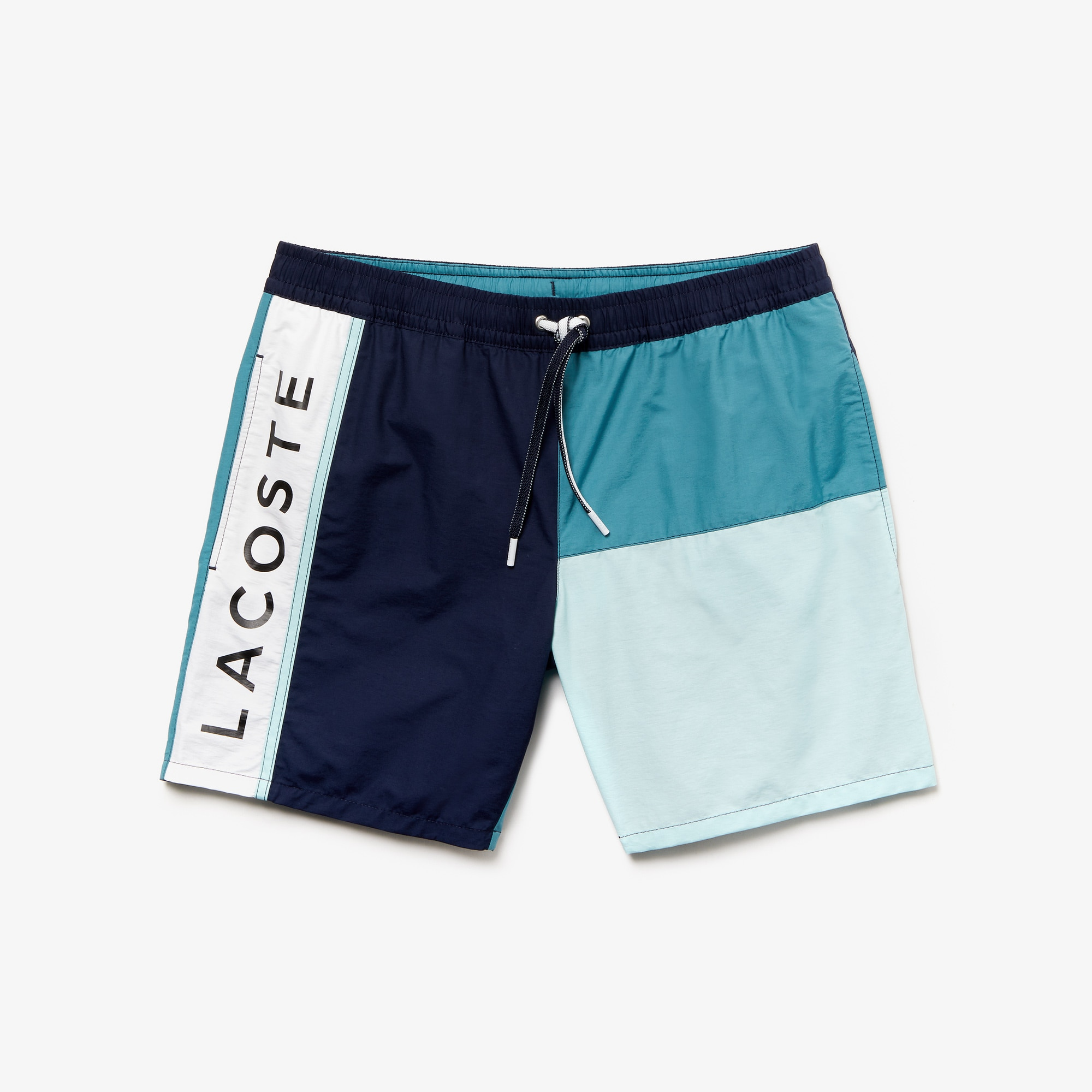 ff30c29f04 Lacoste Mens Striped Taffeta Swim Shorts Blue Sports & Outdoor Clothing