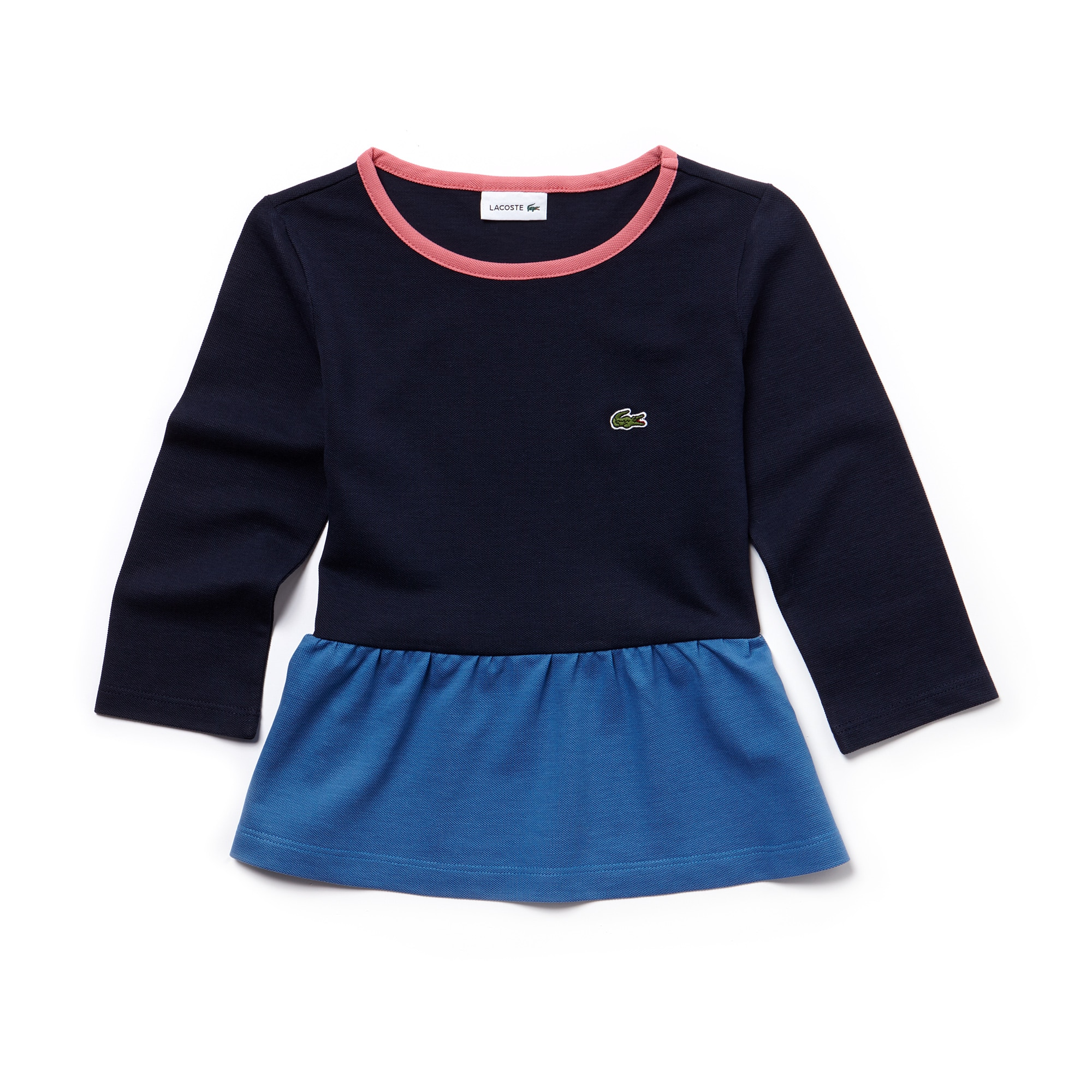 Girls' Flowing Colorblock Petit Piqué T-shirt