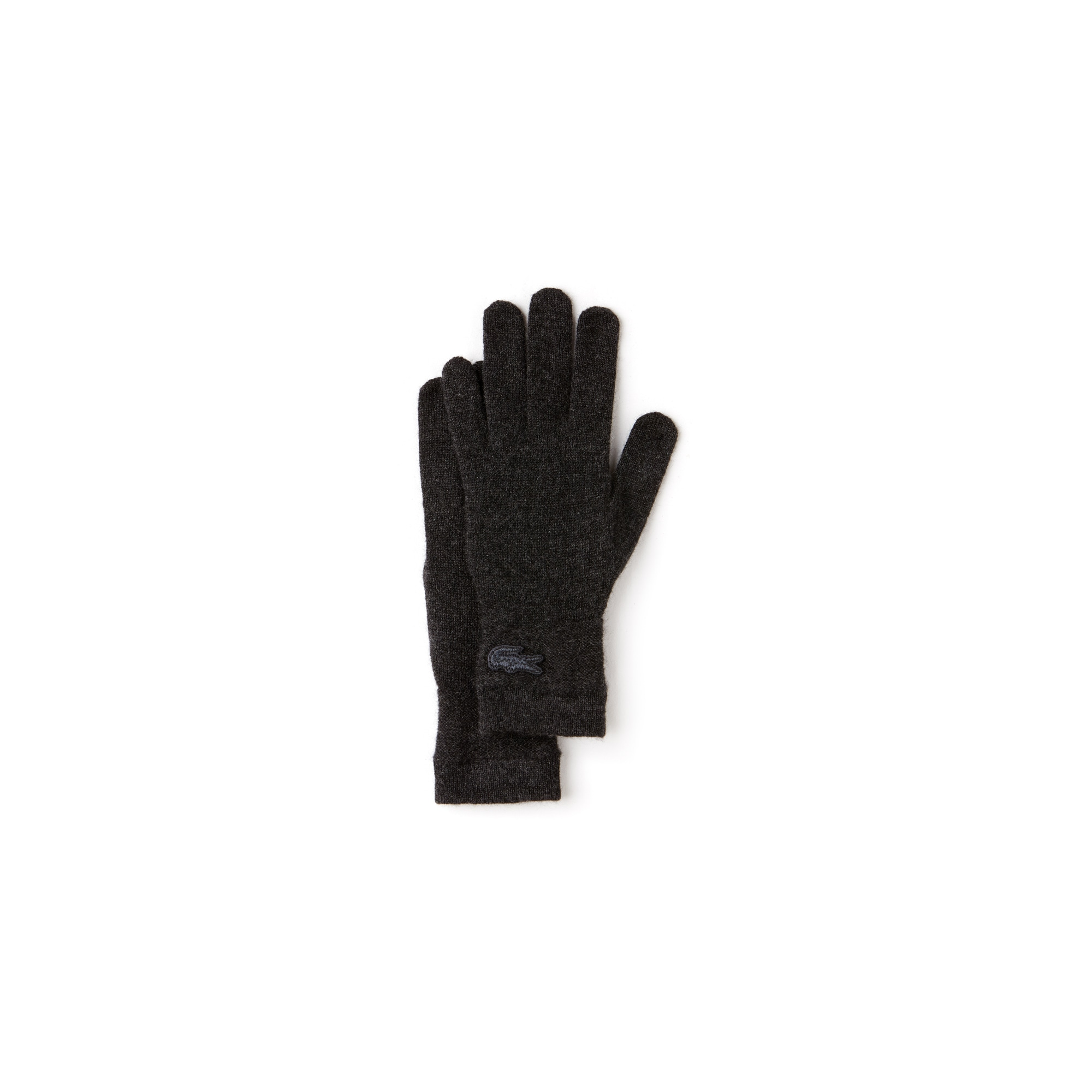 Women's Cashmere Jersey Gloves With Contrast Stripe