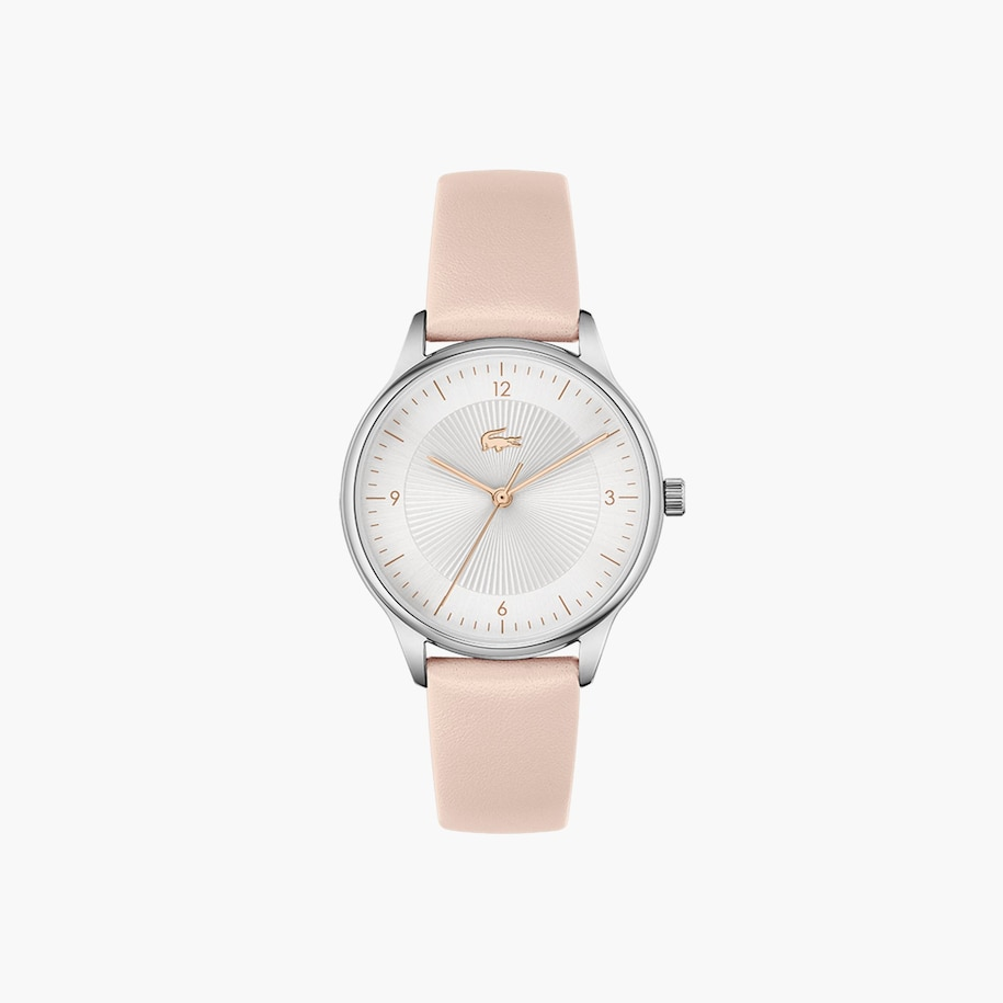 Lacoste Club 3 Hands Watch With Nude Leather Strap