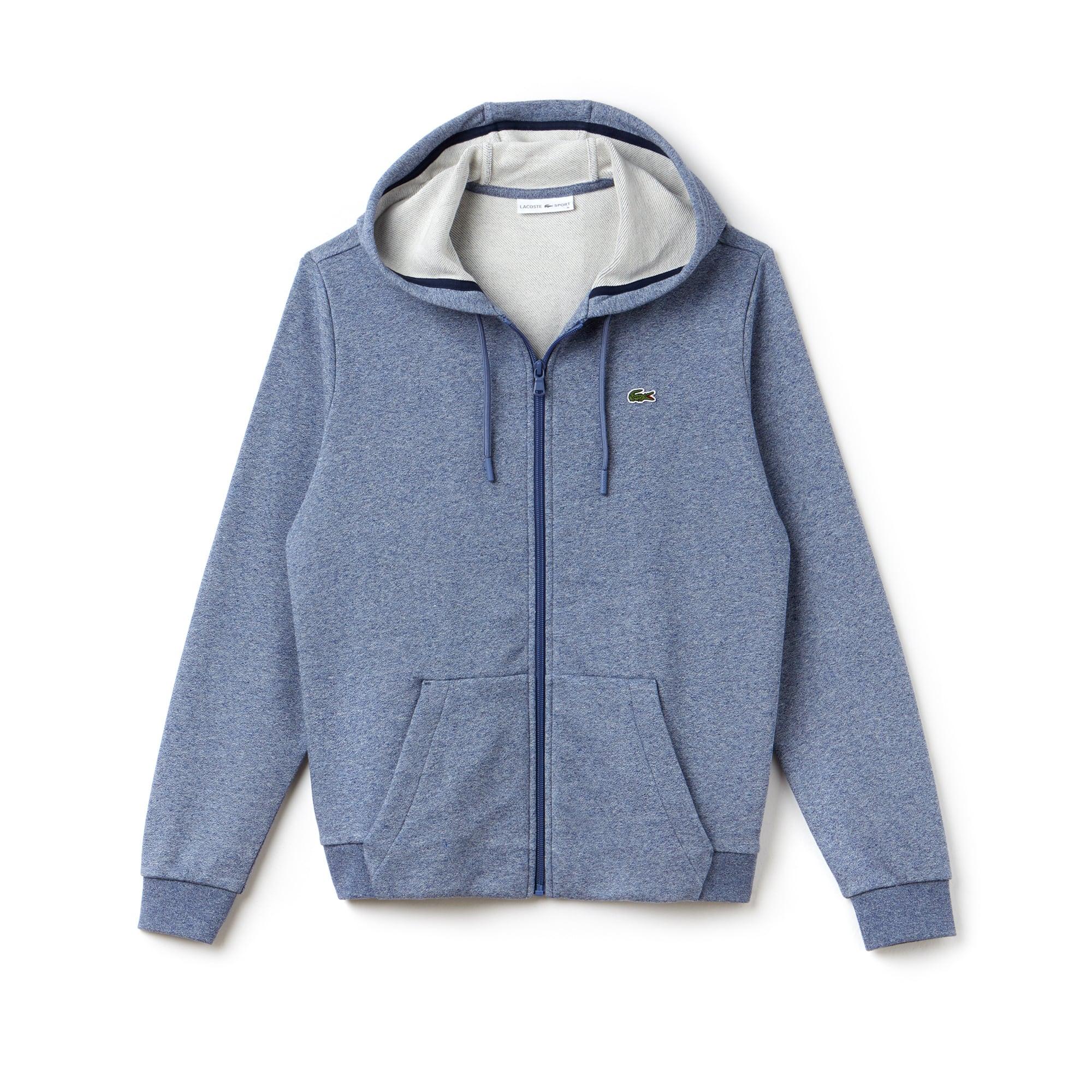 라코스테 스포츠 집업 후드티 Womens Lacoste SPORT Tennis Hooded Zippered Fleece Sweatshirt,marino jaspe/navy blue