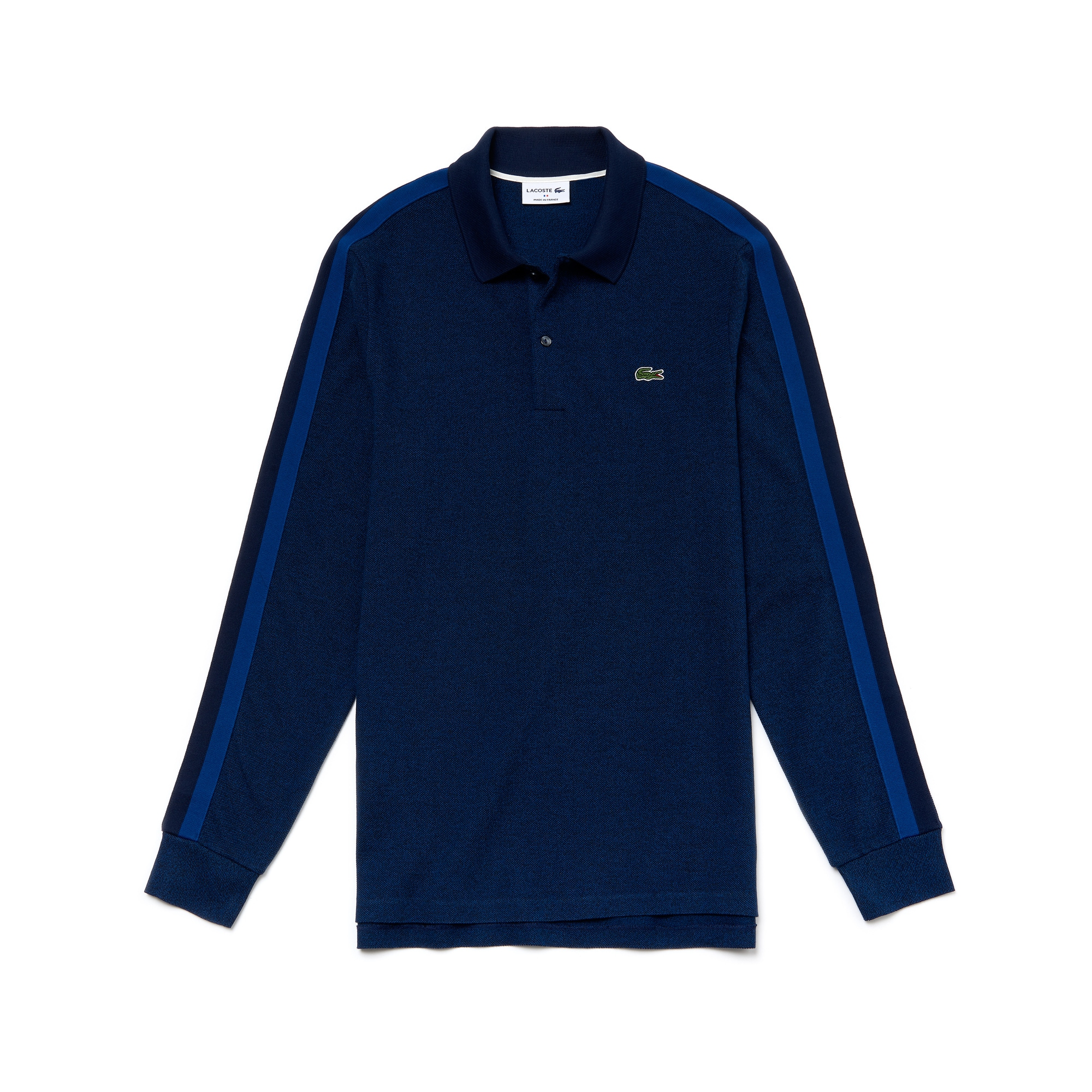 라코스테 Lacoste Mens Made In France Regular Fit Pique Polo,inkwell/black-navy blue