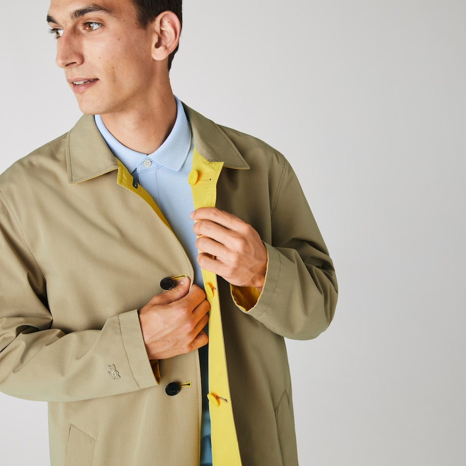 Men's Lightweight Water-Resistant Reversible Twill Coat