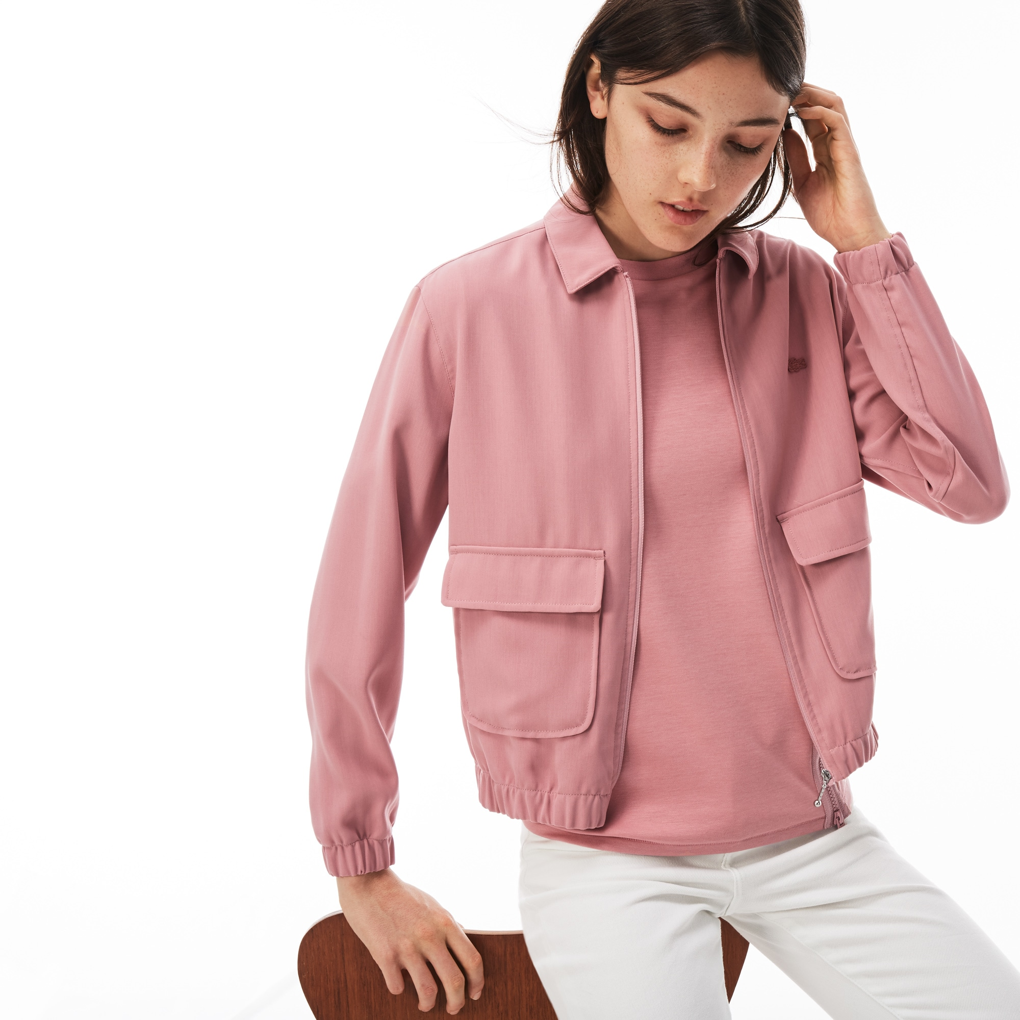 Women's LIVE Crepe Short Zip Jacket