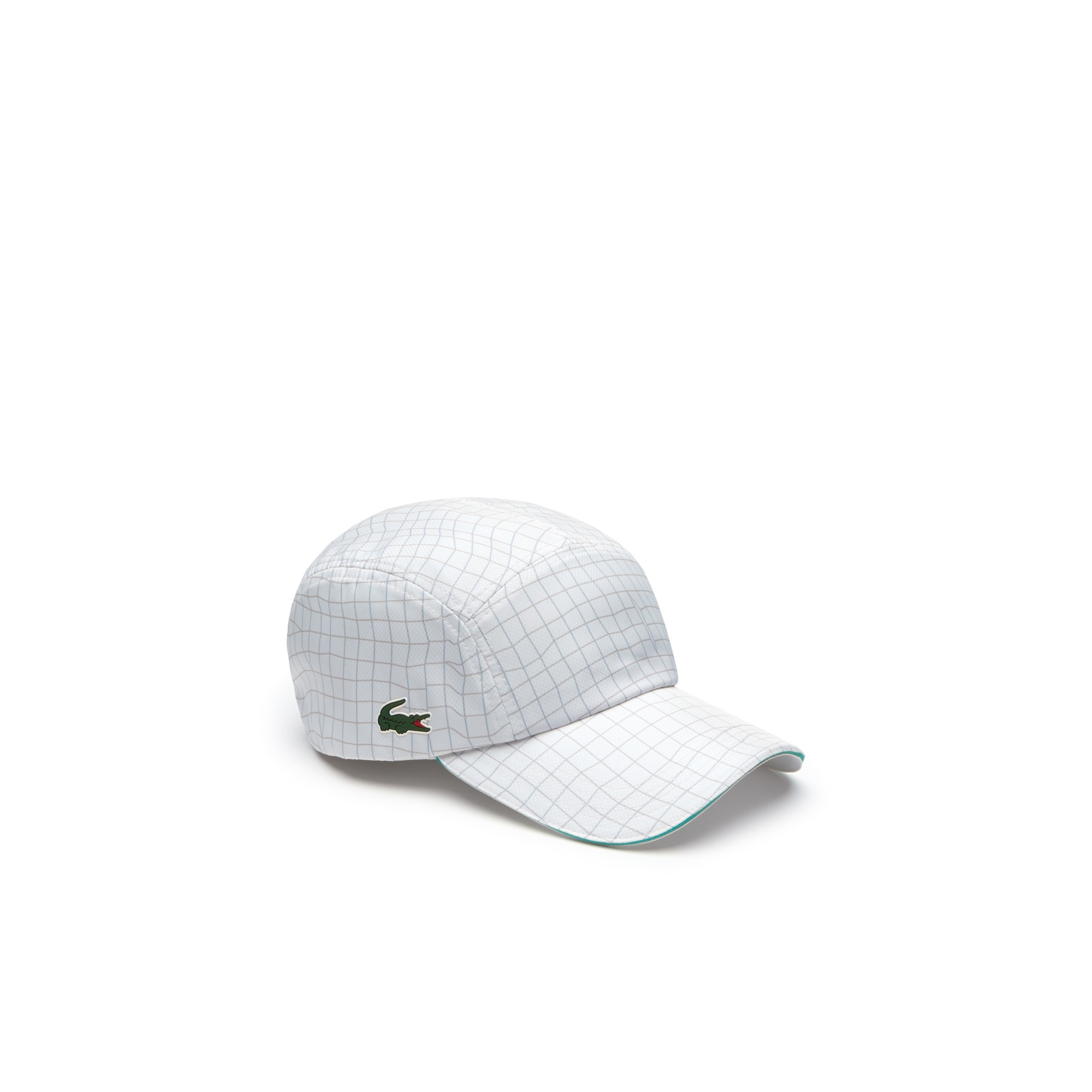 Mens 라코스테 Lacoste SPORT Tennis Colorblock Taffeta Cap,white / grey / green / white